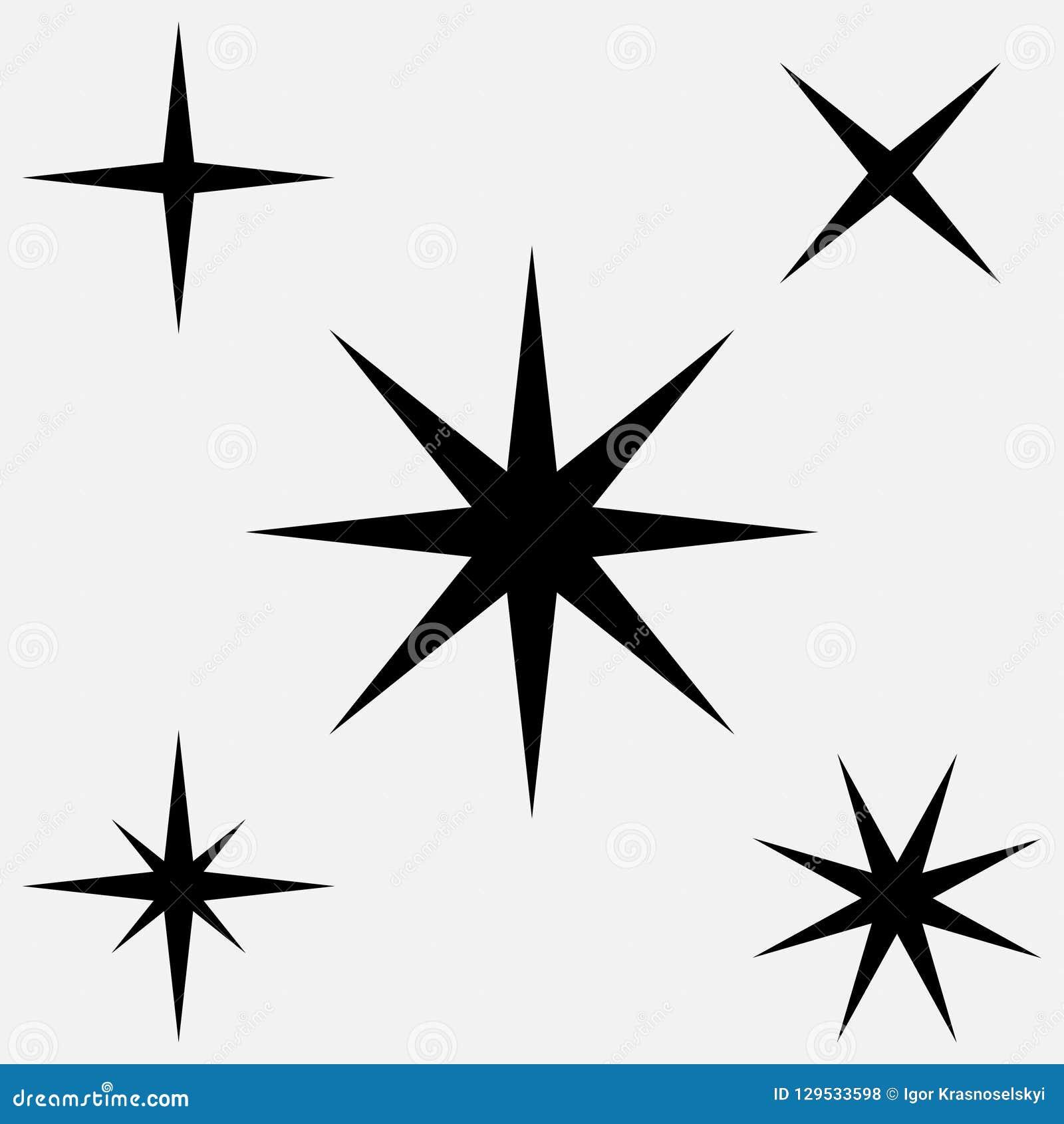 star - vector icon. five black stars. set of black stars stock vector -  illustration of sign, background: 129533598  dreamstime.com