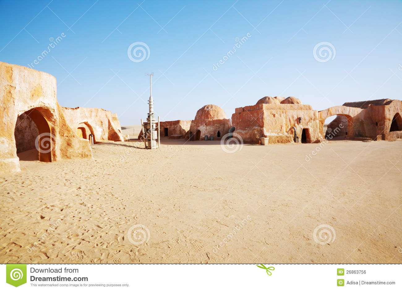 Star Wars Decoration In Sahara Desert Stock Photo