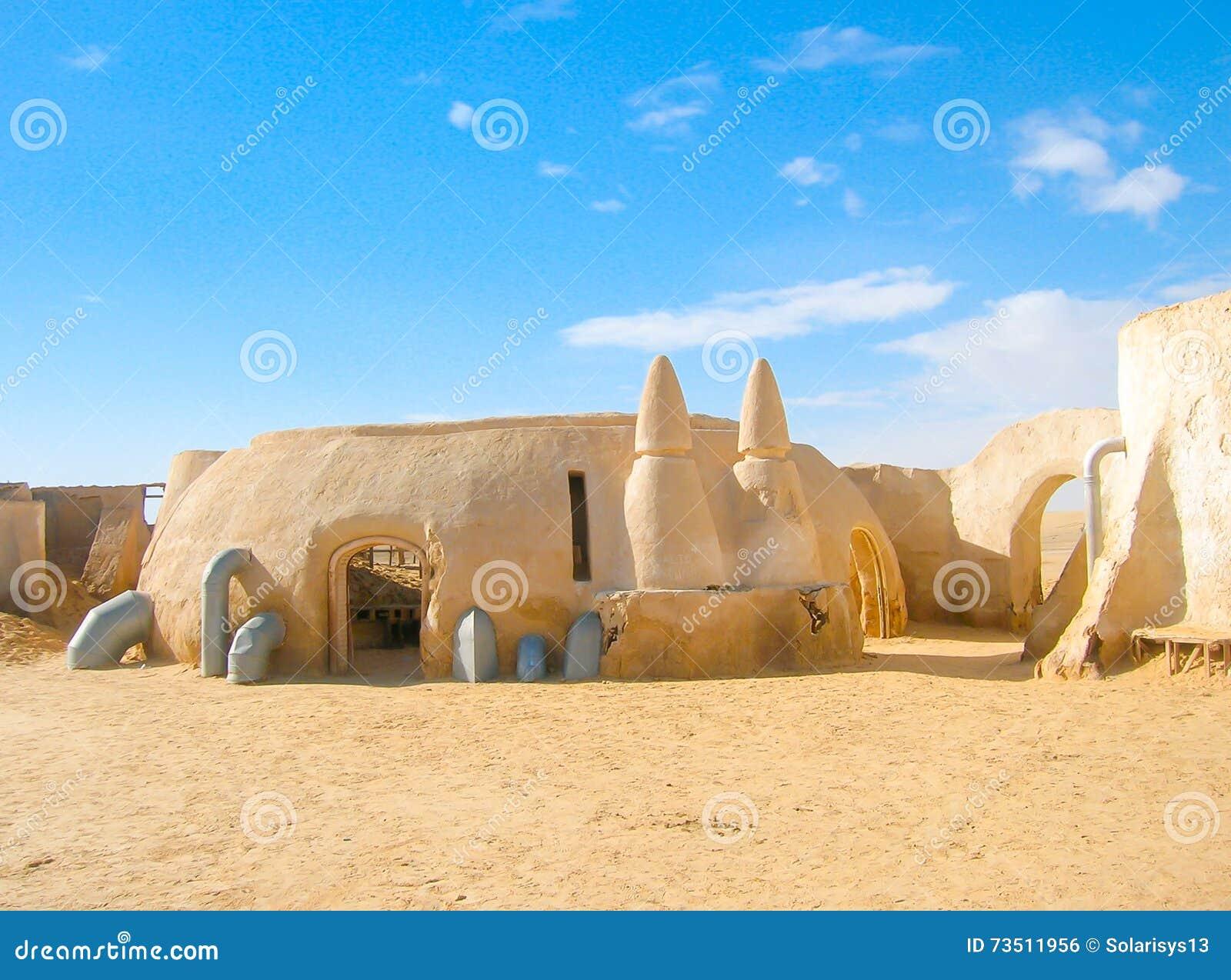 Star Wars Decoration In Sahara Desert Royalty-Free Stock