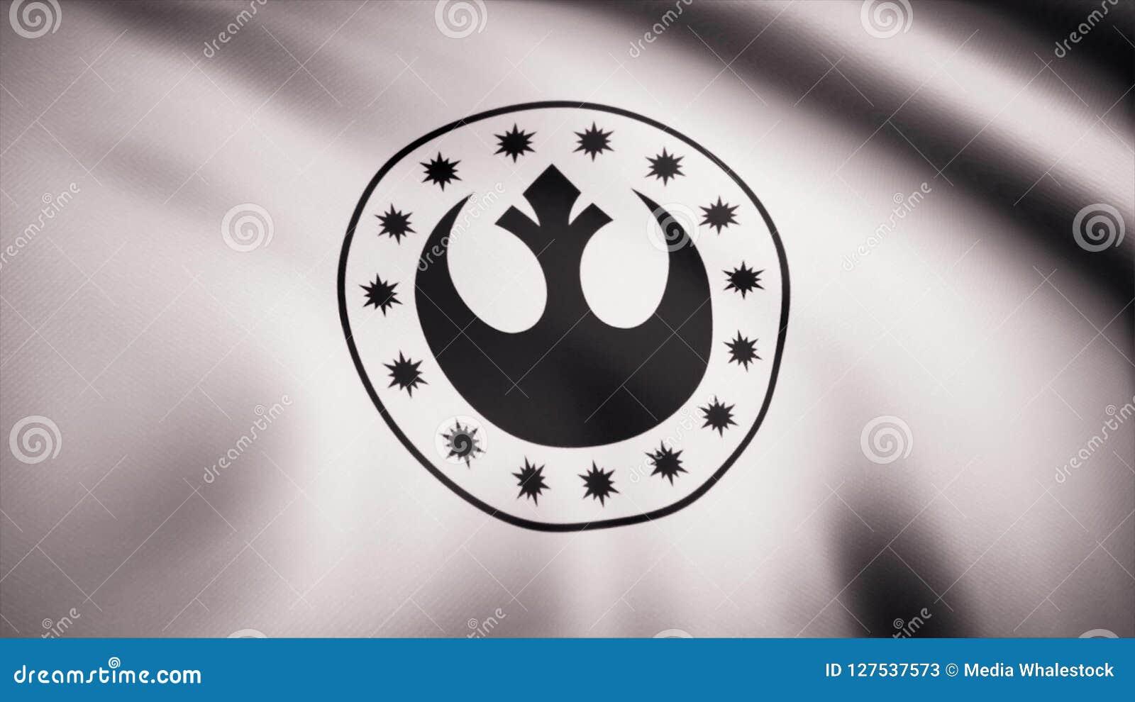 Star Wars New Republic Symbol On Flag The Star Wars Theme