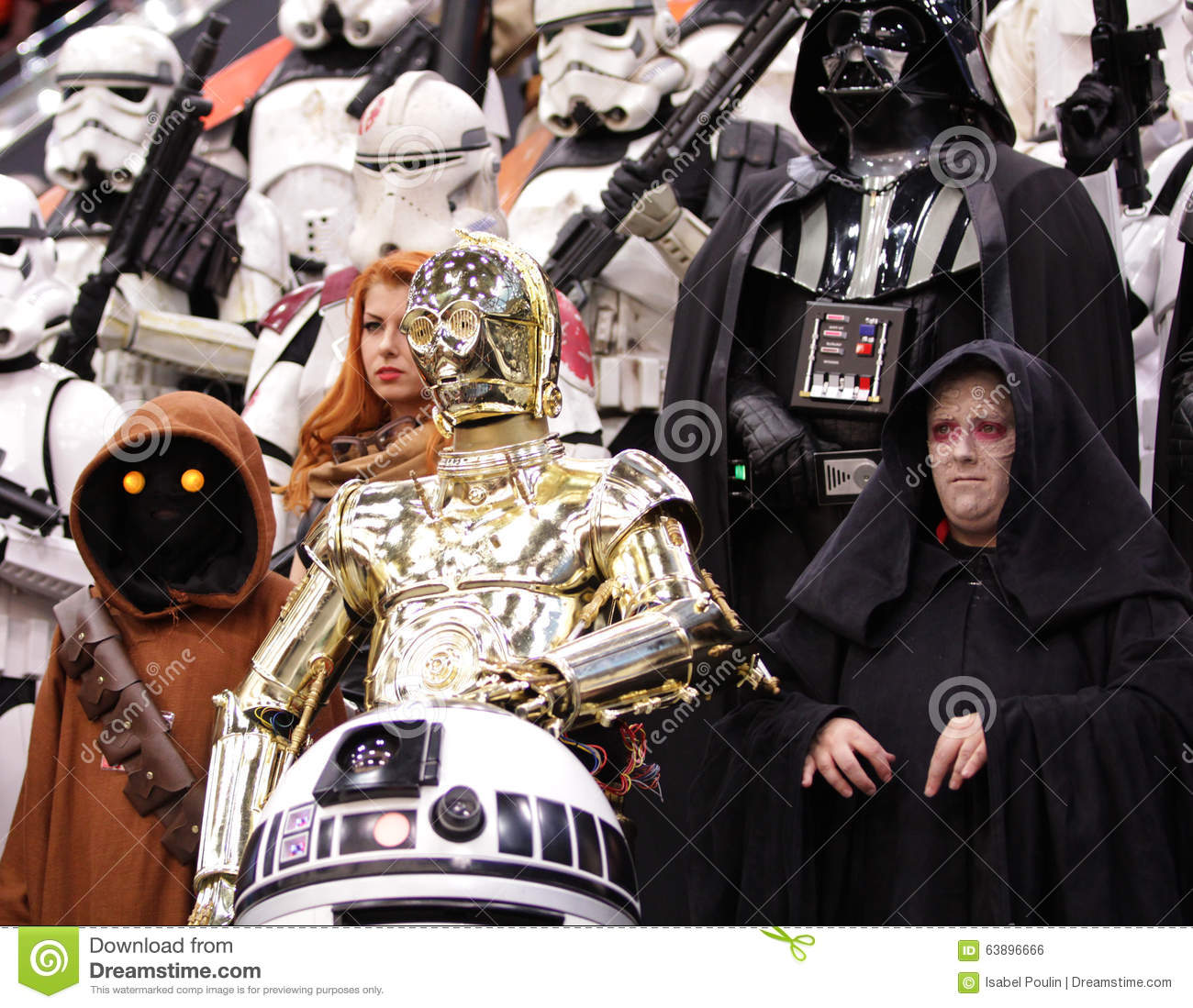 star wars personnage at comic con in montreal editorial photo
