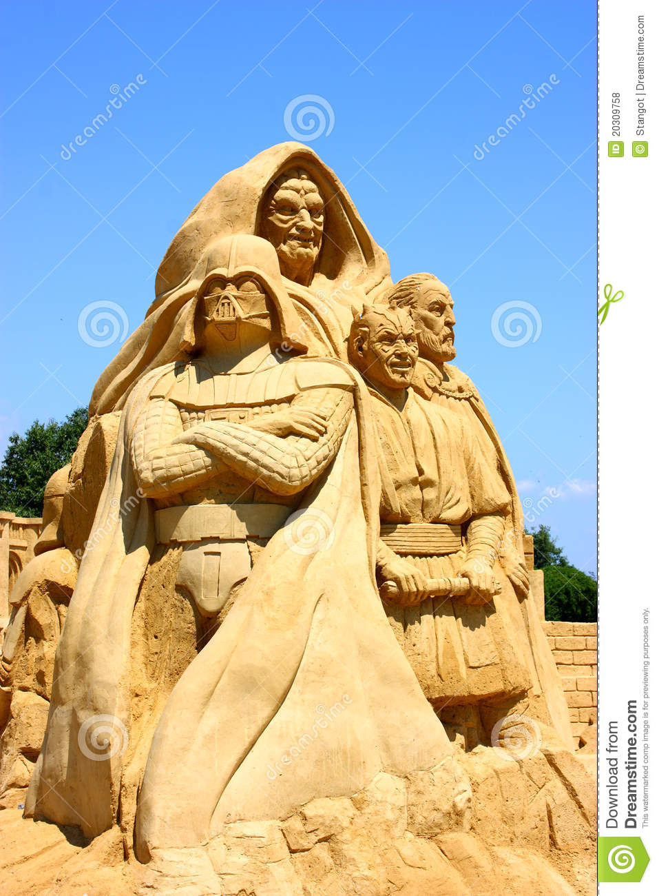 star wars sand sculpture editorial stock photo image of object