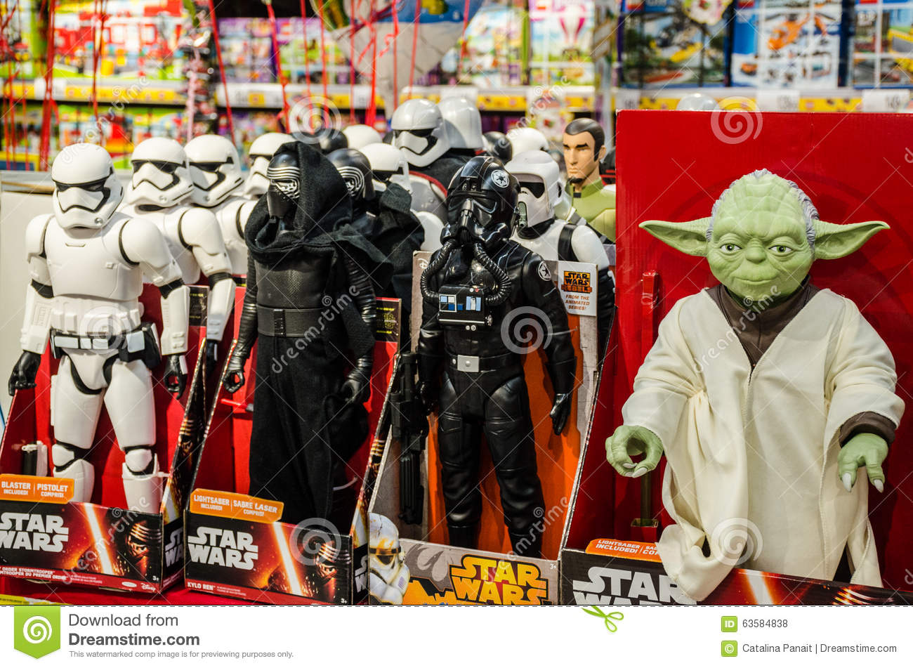 Star Wars Toys Editorial Stock Photo Image 63584838