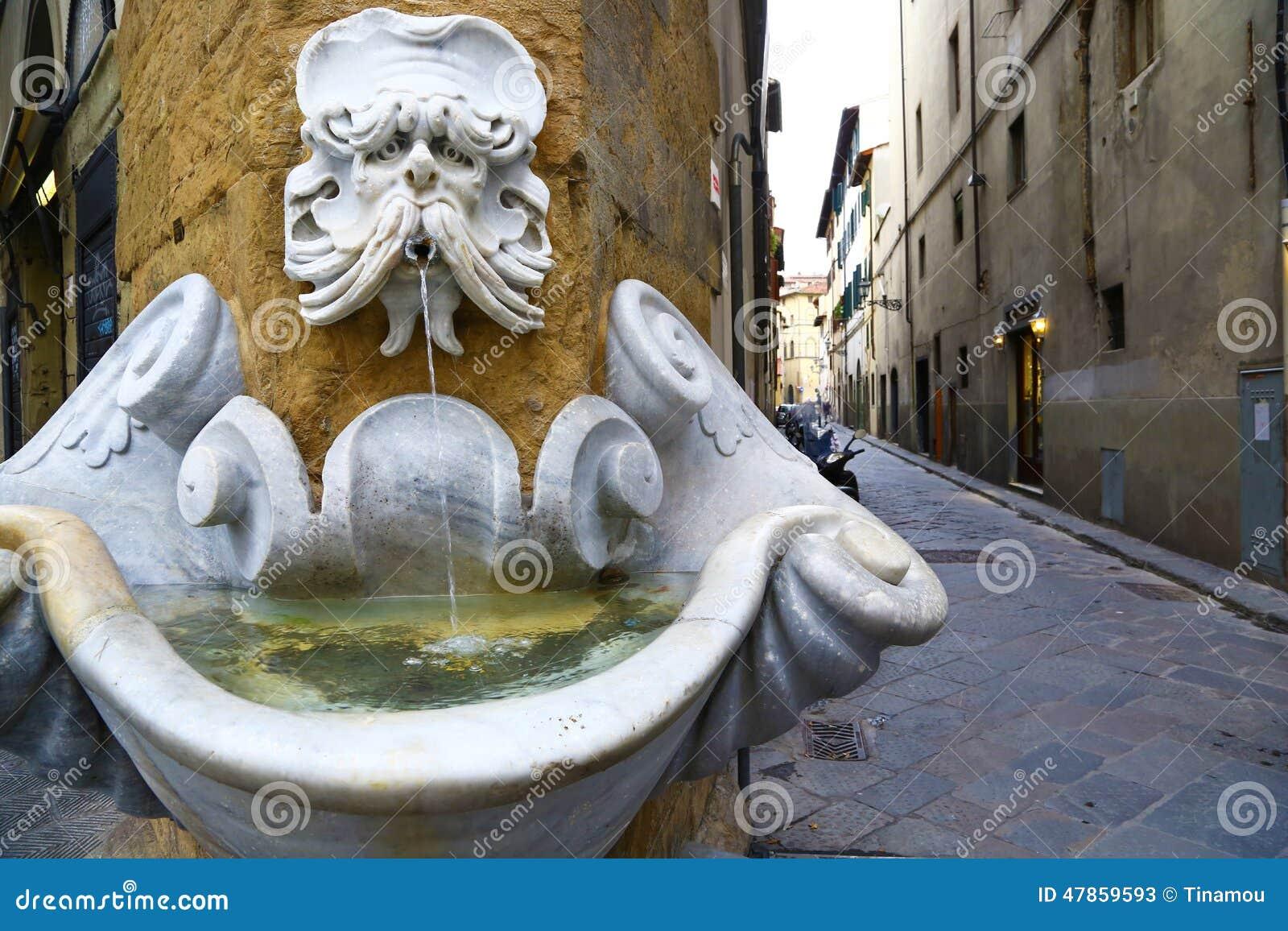 Stara śmieszna fontanna w Florencja, Włochy