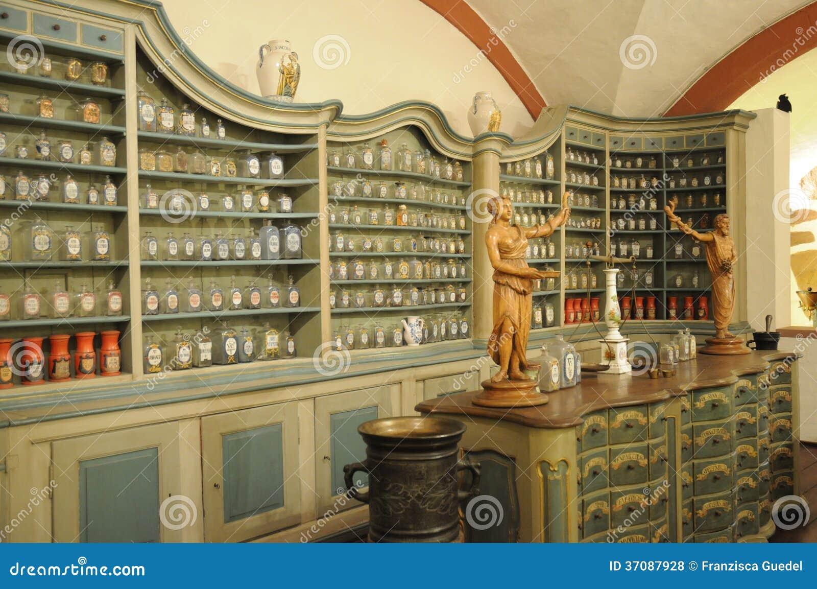 Download Stara apteka zdjęcie stock. Obraz złożonej z medicament - 37087928