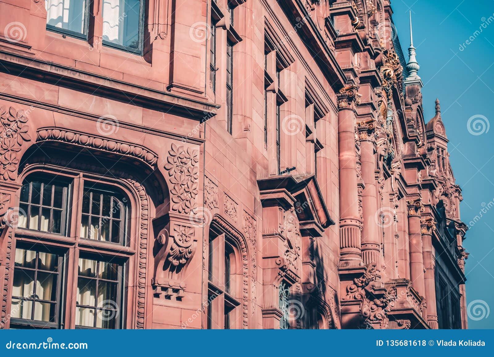 Stara biblioteka w kampusie w mieście Heidelberg w Niemcy Dziejowy widok