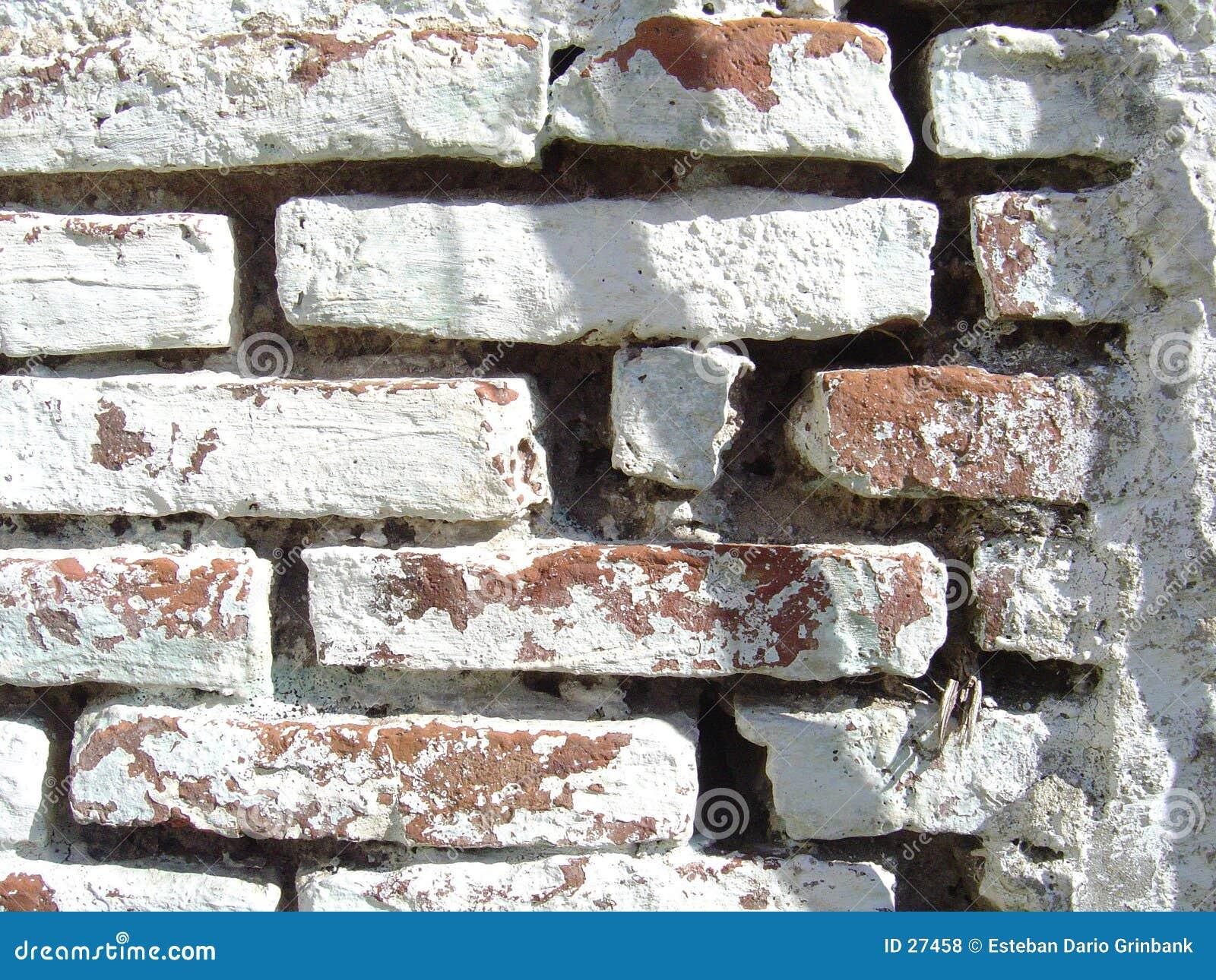 Stara cegła malowaniu ściana white