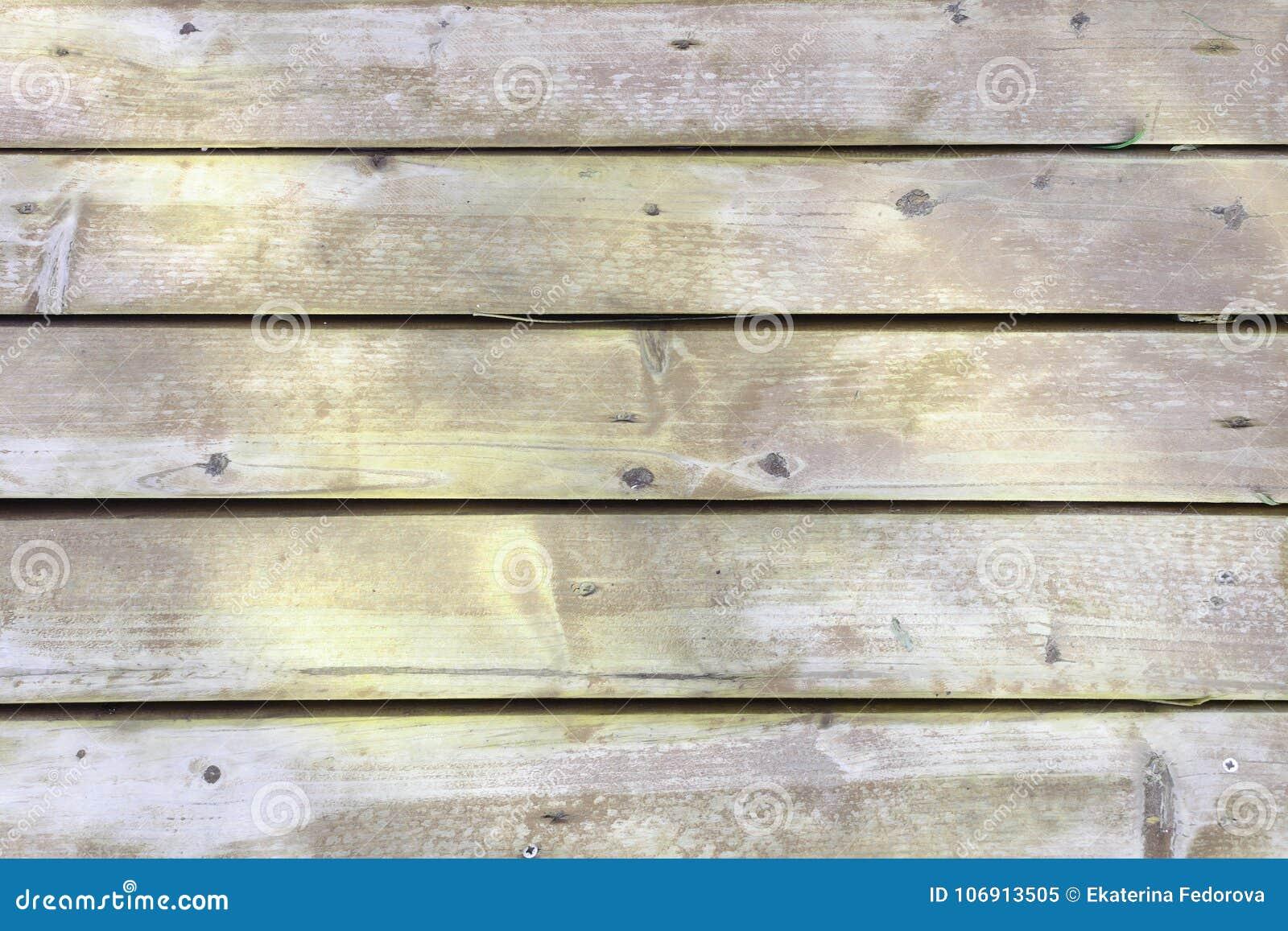 Stara drewniana ściana robić deski Żółta niezwykła plakieta