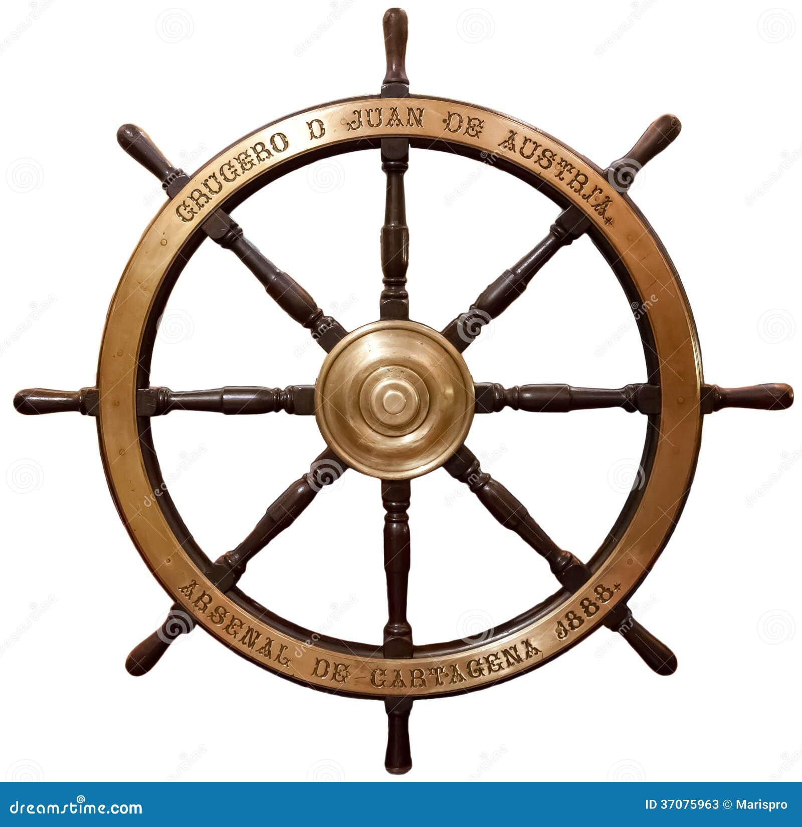 Download Stara Drewniana Statek Kierownica Obraz Stock - Obraz złożonej z drewniany, klasyczny: 37075963