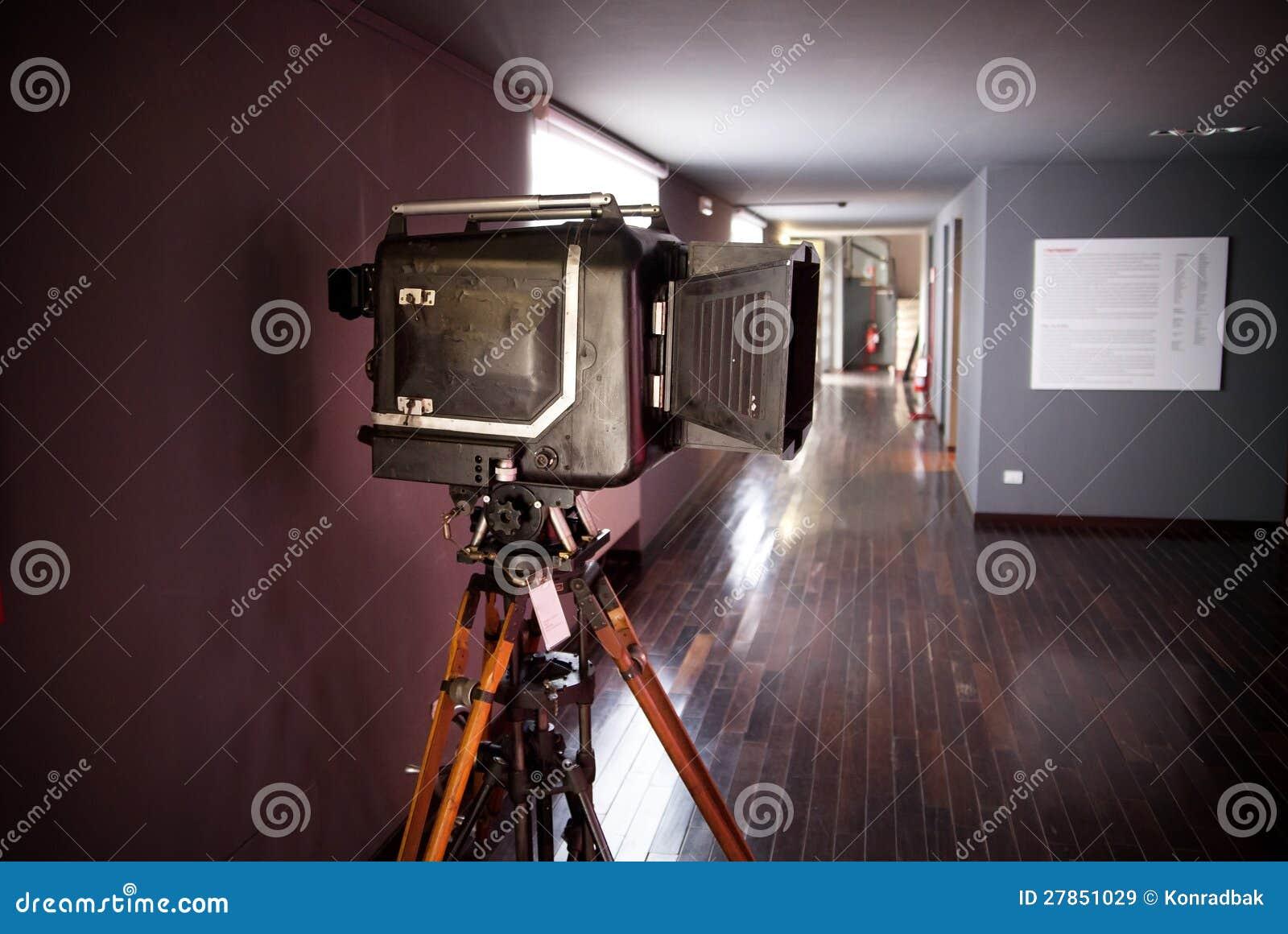 Stara ekranowa kamera muzealny kawałek