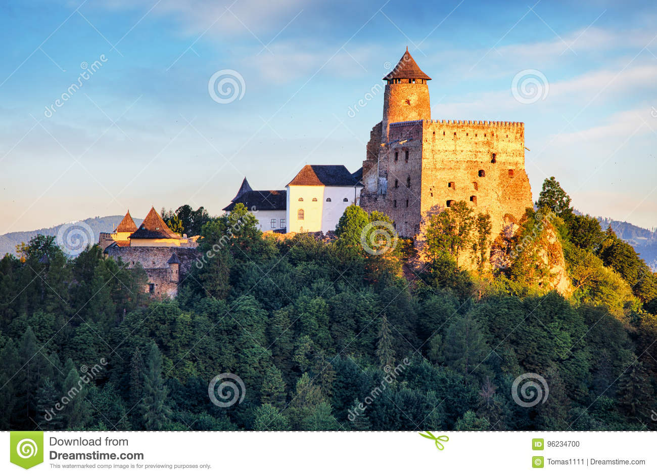 Stara Lubovna castle in Slovakia, Europe landmark