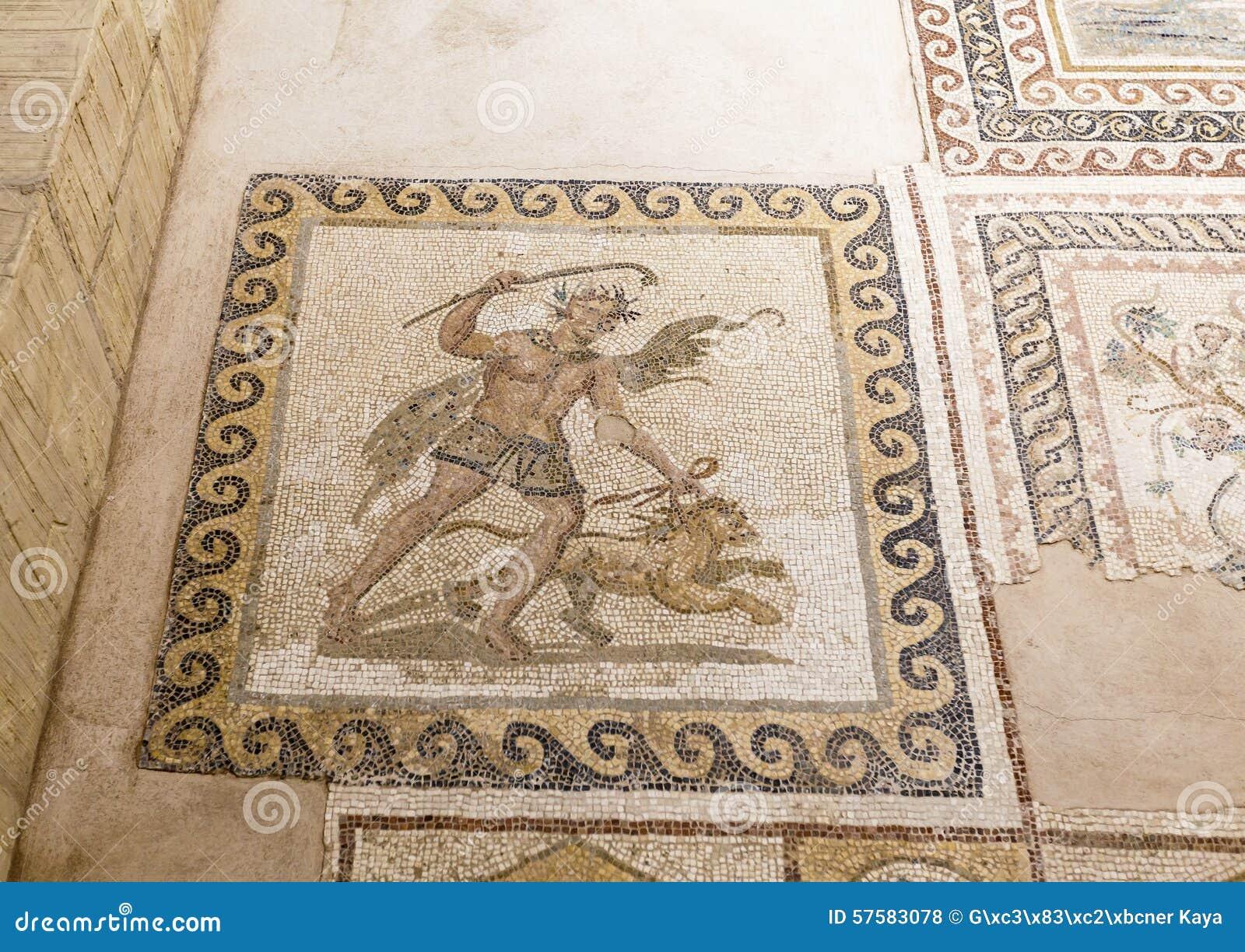Stara mozaika w Hatay archeologii muzeum, Turcja