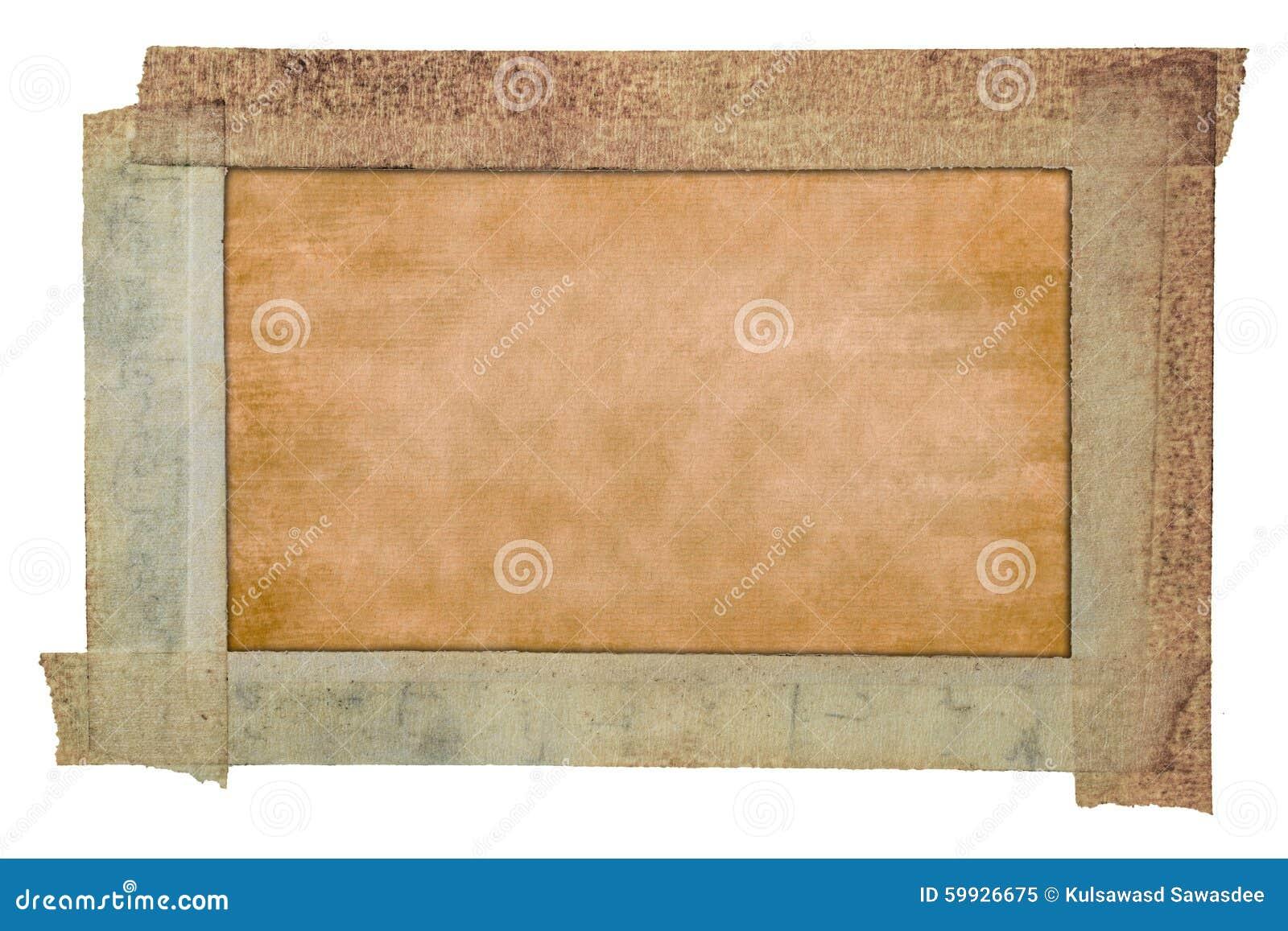 Stara papierowej taśmy rama, rocznik tekstury papierowy tło