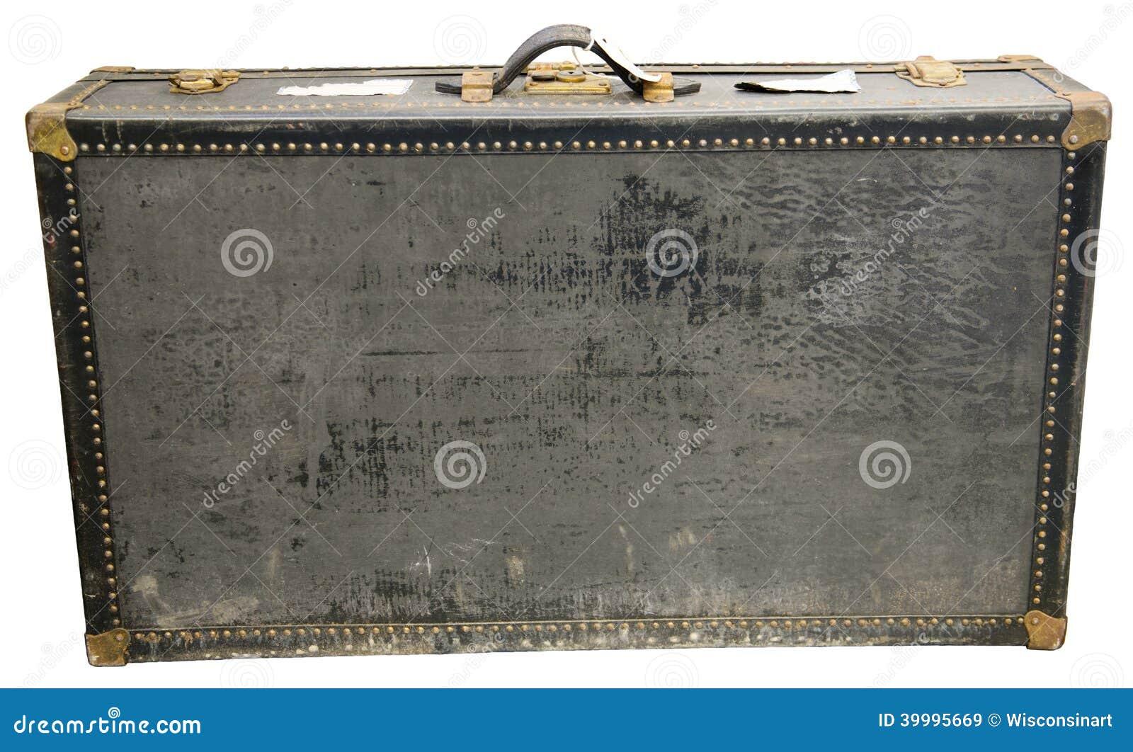 Stara Retro rocznik podróży walizka Odizolowywająca