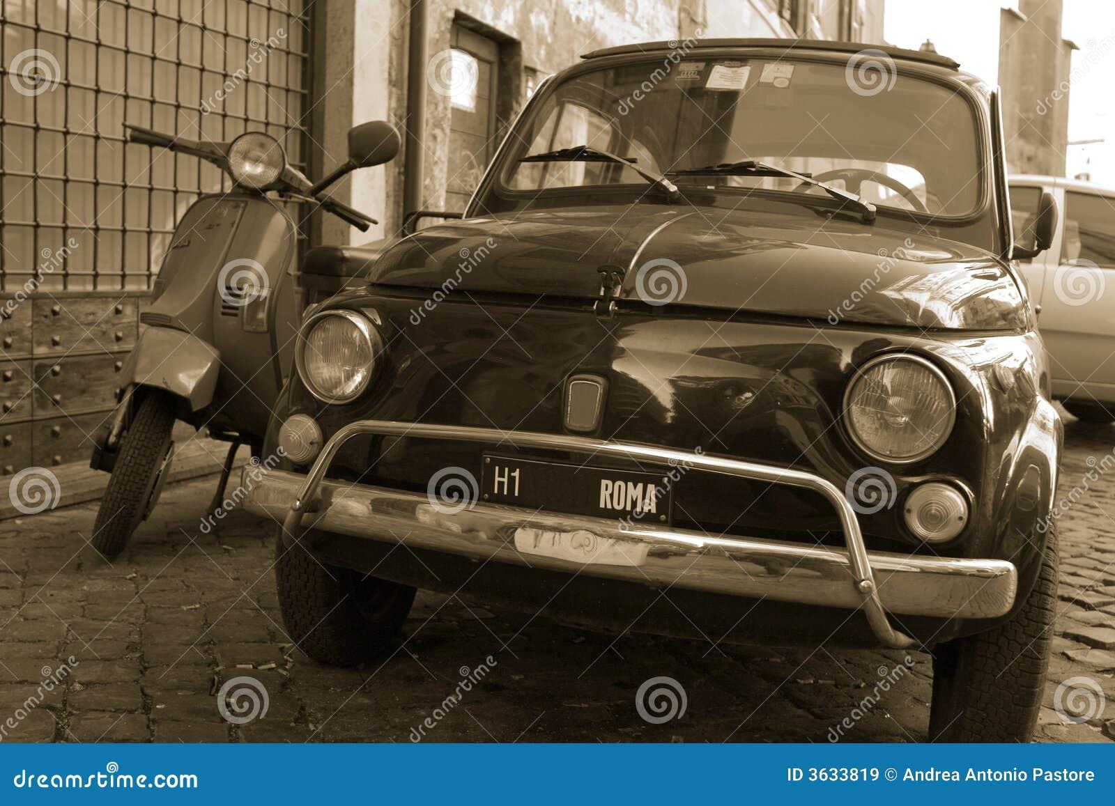 Stara samochodów Rzymu street