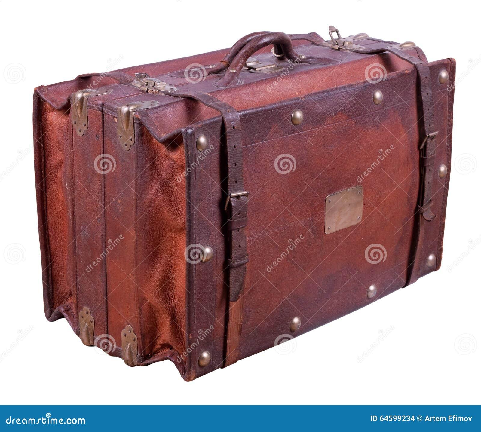 Stara skórzana walizka