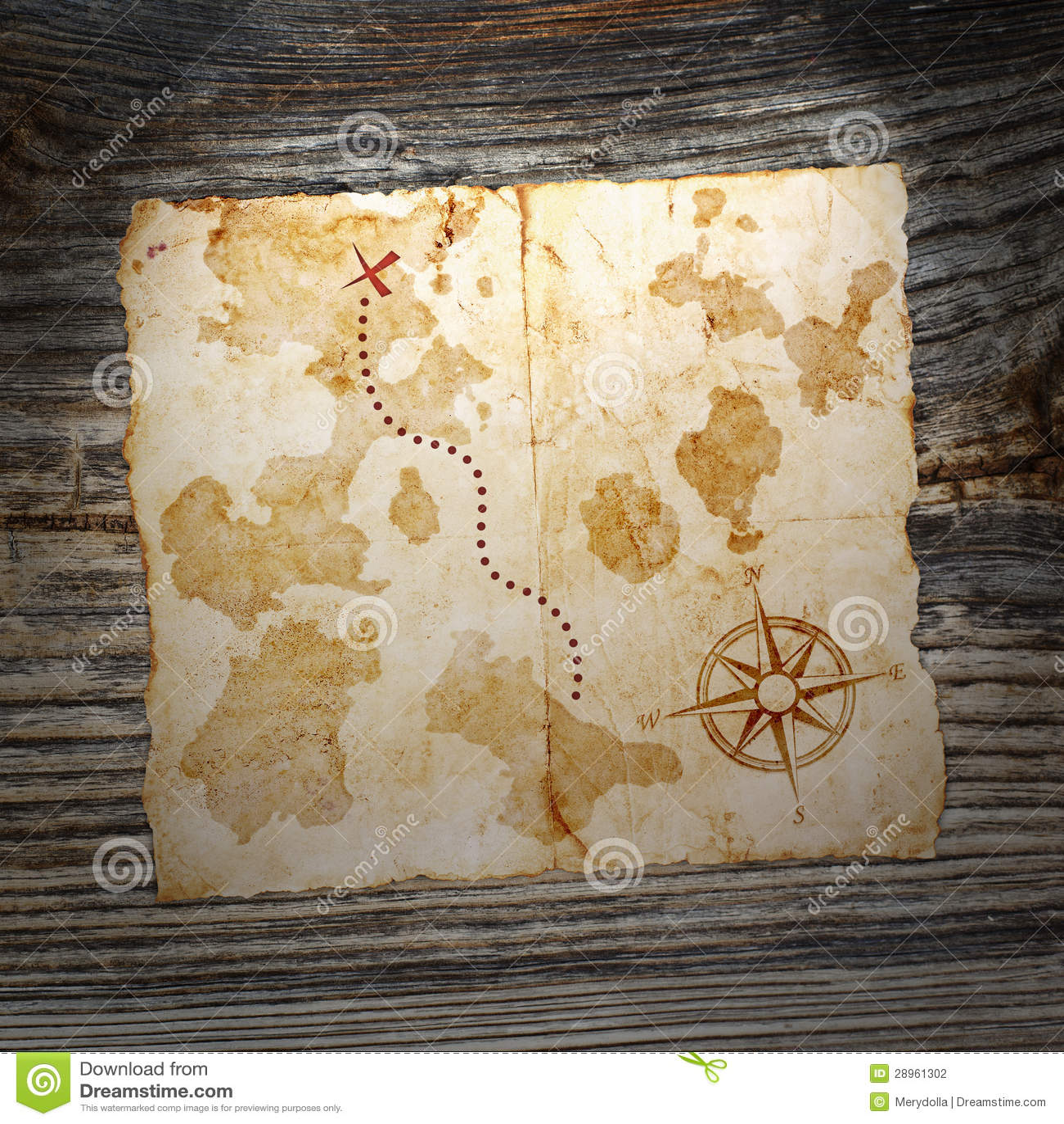 Stara skarb mapa