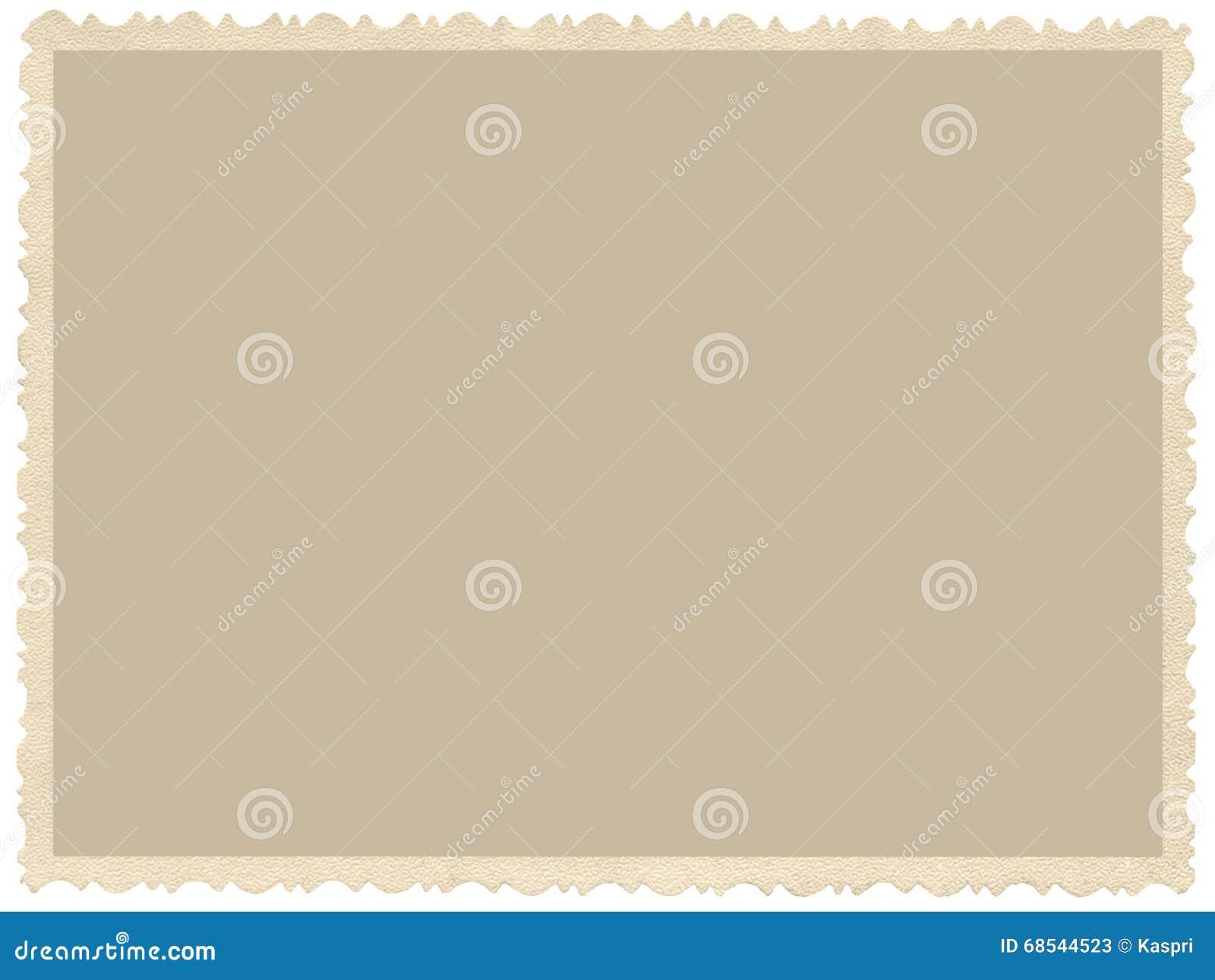 Stara starzejąca się grunge krawędzi sepiowa fotografia, pustego miejsca pusty horyzontalny tło, odosobniona żółta beżowa rocznik