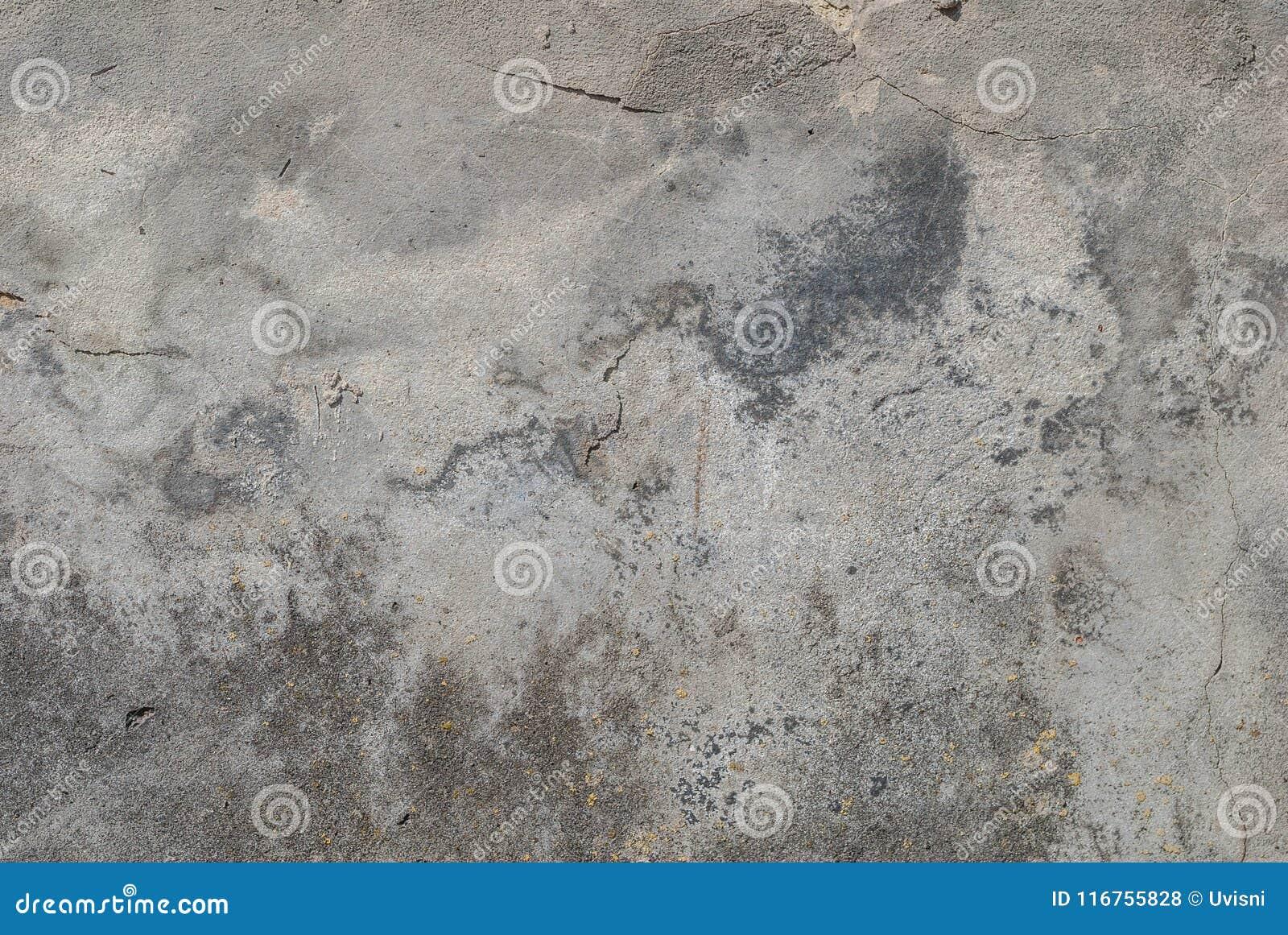 Stara tynk ściana, odłupana farba, krajobrazu styl, szara tekstura, tło