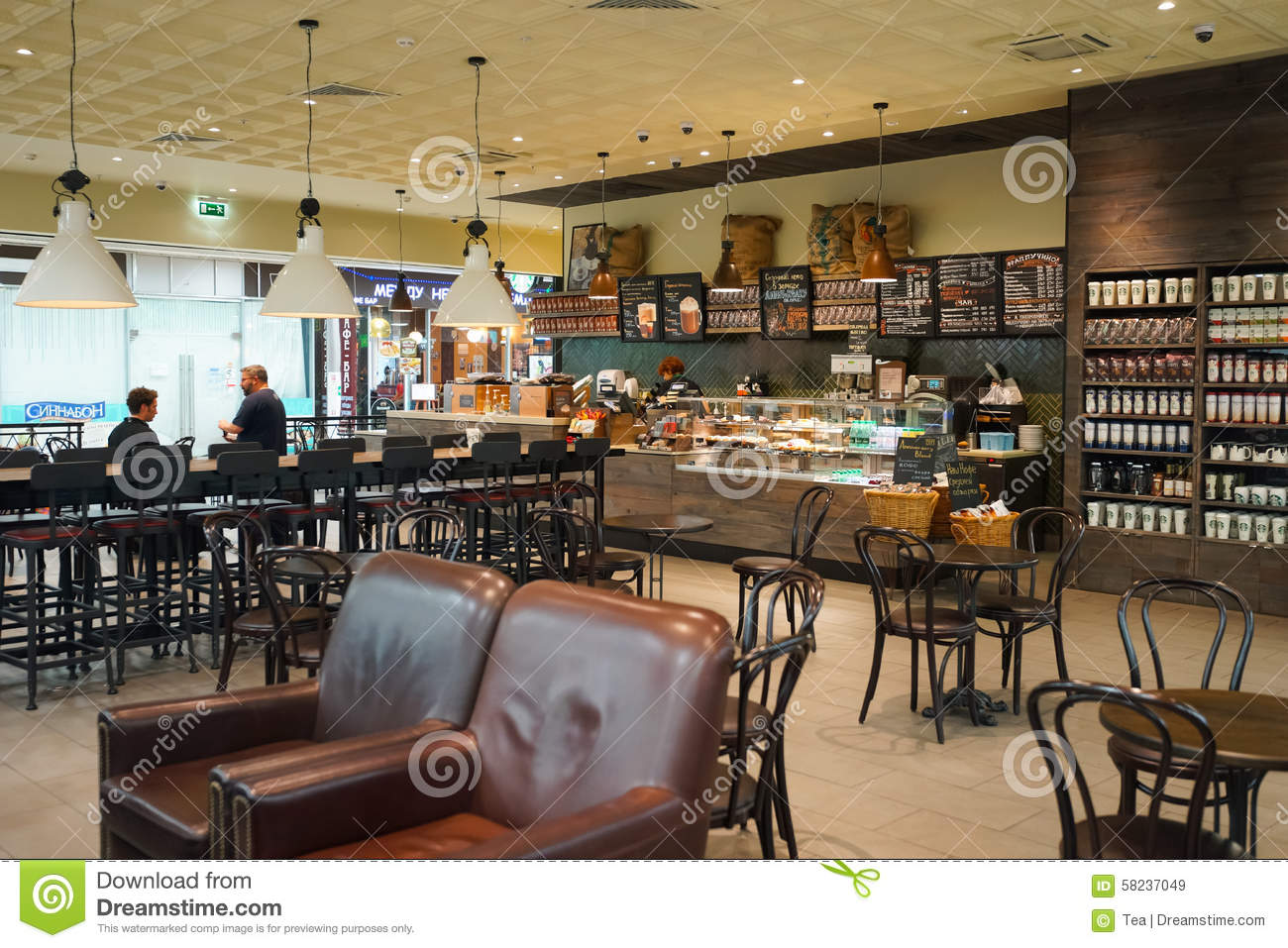 Starbucks Cafe Interior Editorial Stock Image Image Of People 58237049