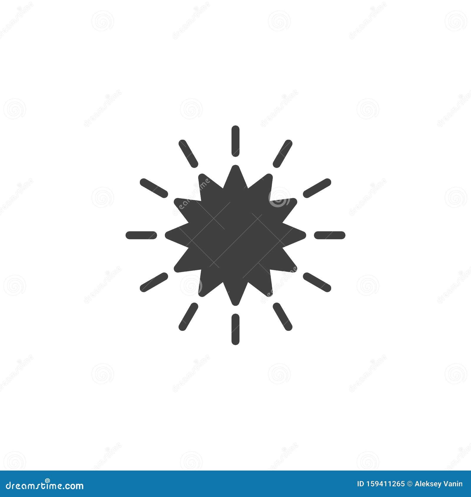 Starburst Vector Icon Stock Vector Illustration Of Explosion 159411265 Download starburst vector stock vectors. dreamstime com