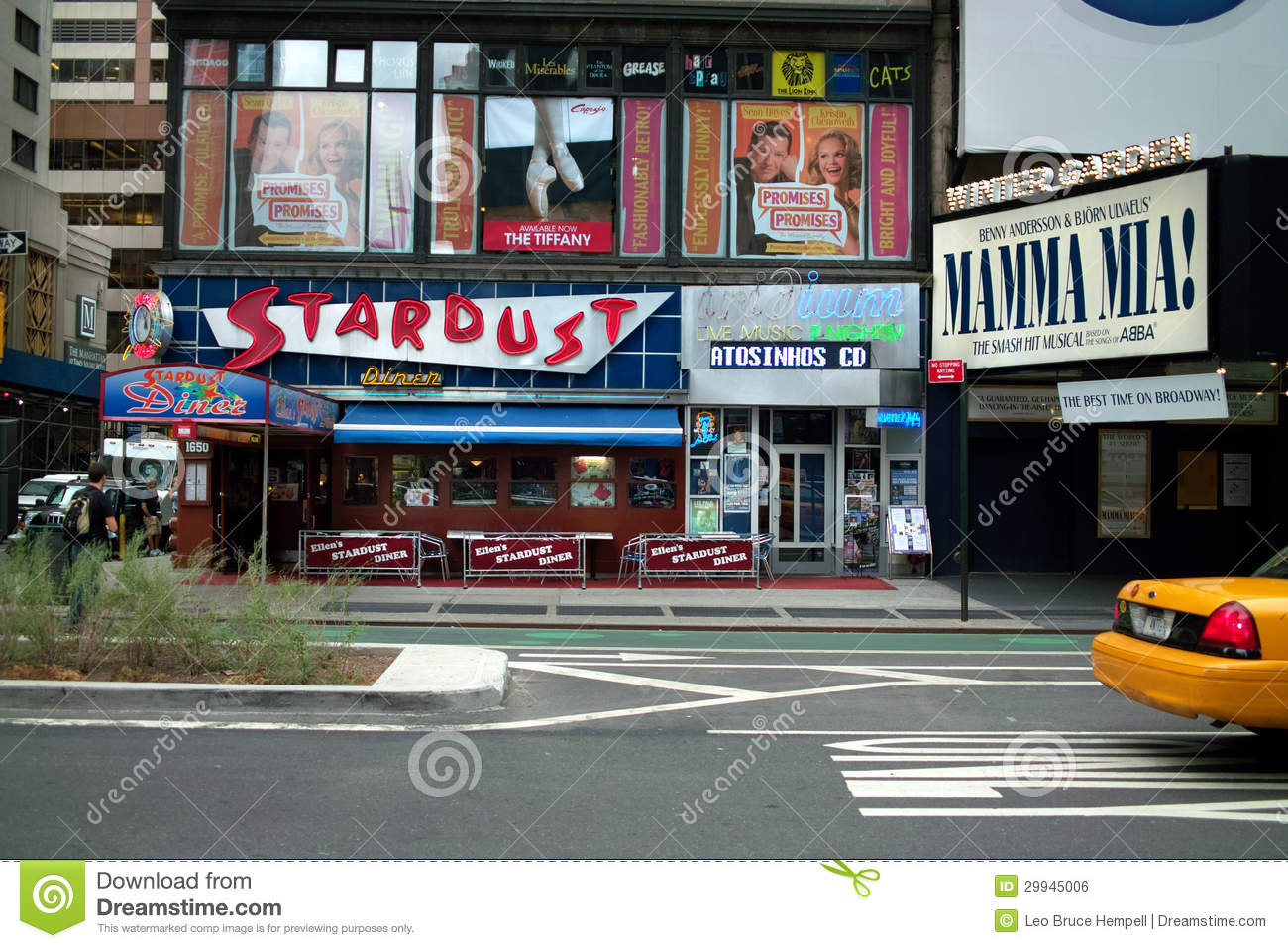 stardust diner broadway new york usa editorial photo image