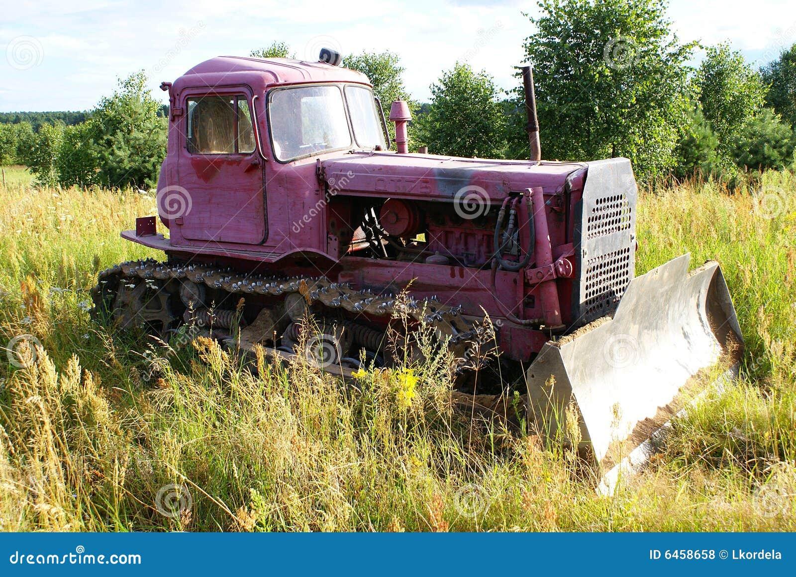 Stare buldożer różowy