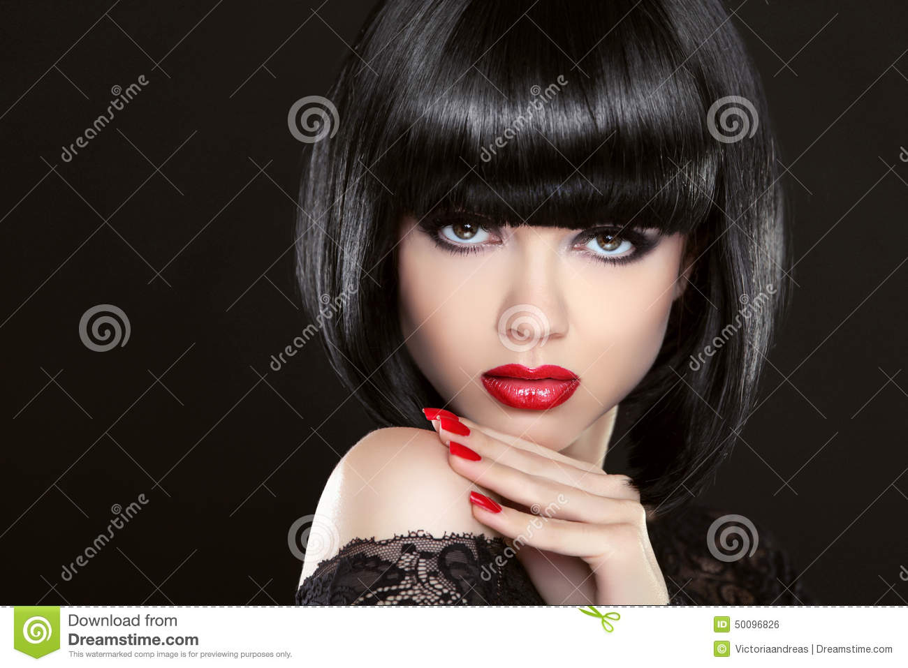 Stare. Fashion Model Girl Face, Beauty Woman Makeup And