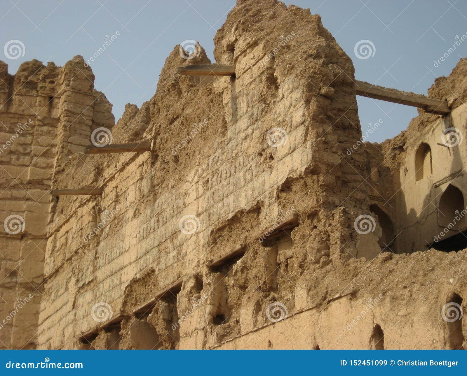Stare kasztel ruiny w sułtanacie Oman
