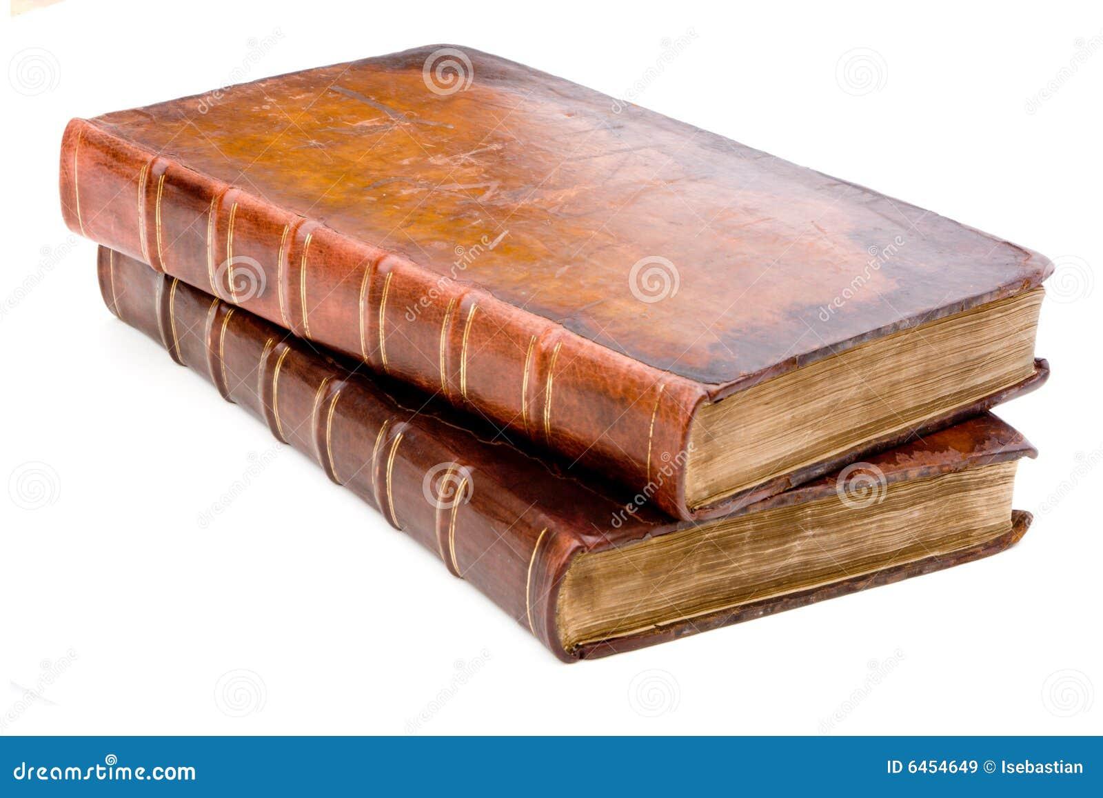 Stare książki kołek skóry