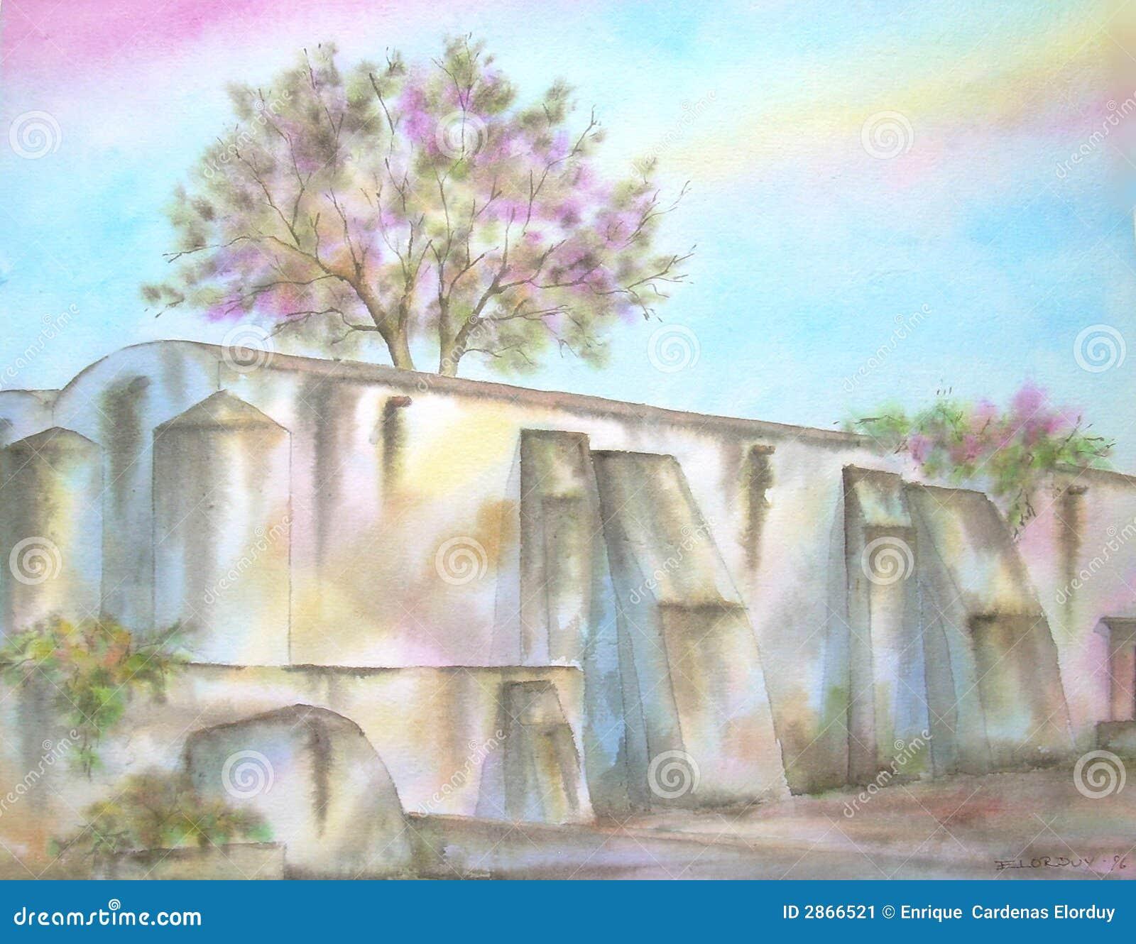 Stare meksykańskie hacjend ruin
