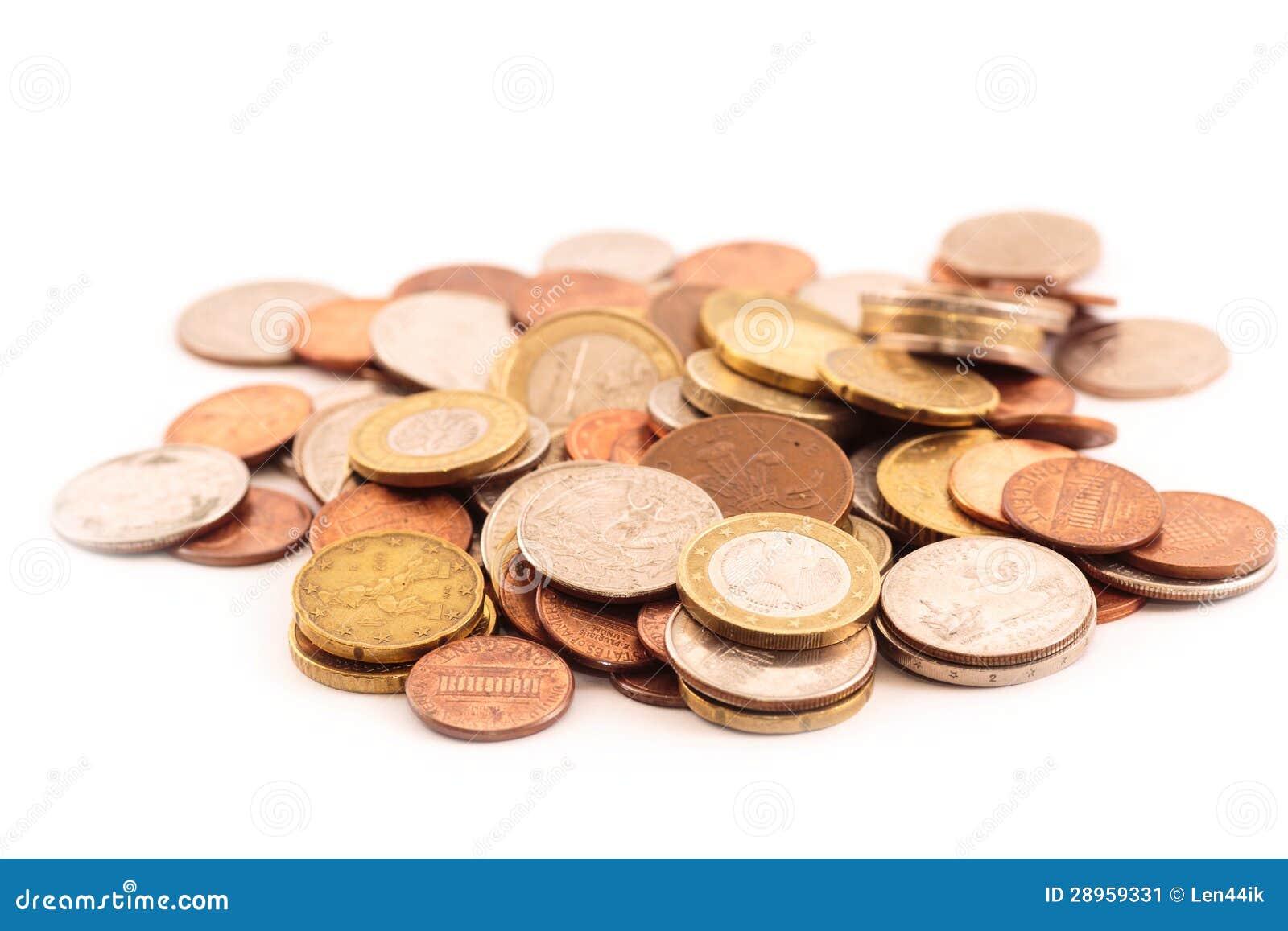 Stare monety od różnych krajów