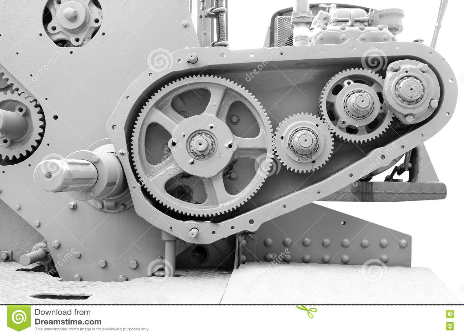 Stare przekładnie, maszynerii części stary metal