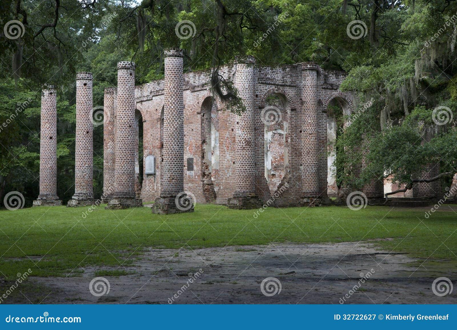Stare Sheldon Kościelne ruiny, Południowa Karolina