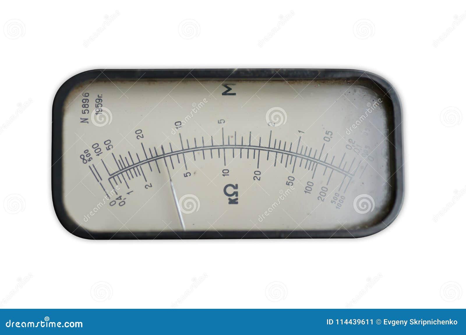 Starego analogowego wskaźnika wyposażenia strzałkowata miara