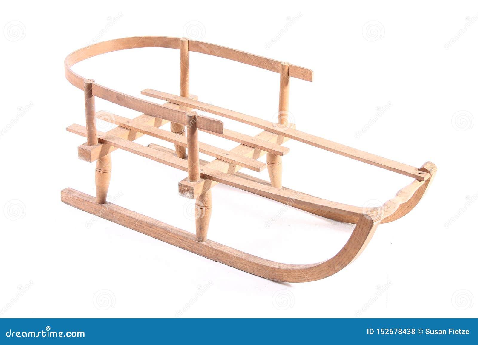 Starego drewnianego pełnozamachowego rocznika sania sporta zimy drewniani boże narodzenia odizolowywający