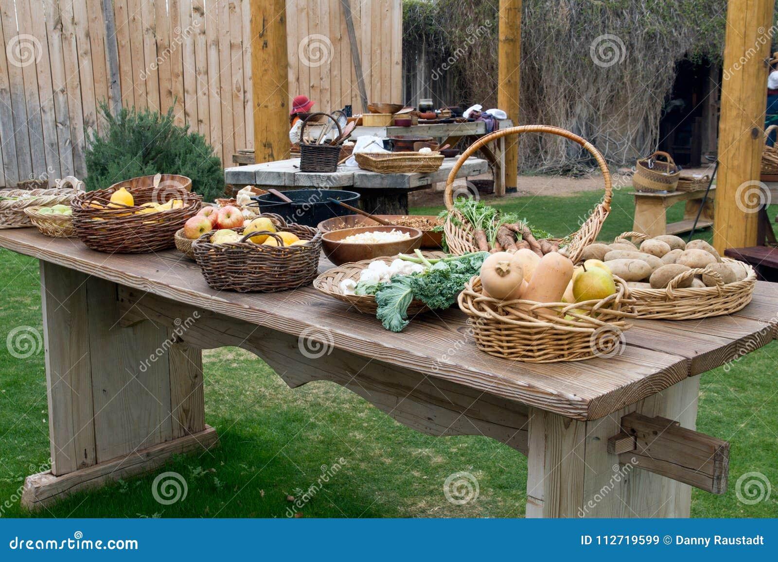 Starego Dzikiego zachodu pioniera Plenerowy Kuchenny stół