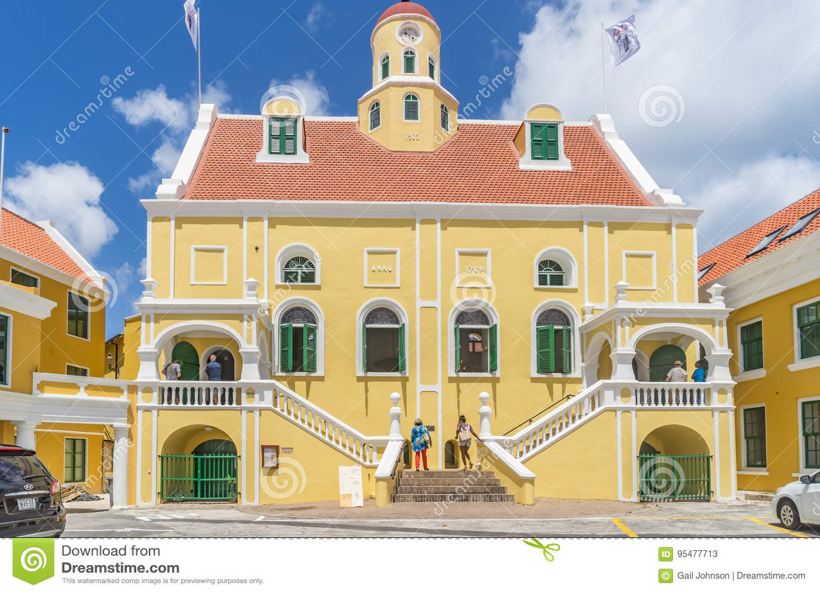 Starego fortu Punda Curacao Kościelni widoki