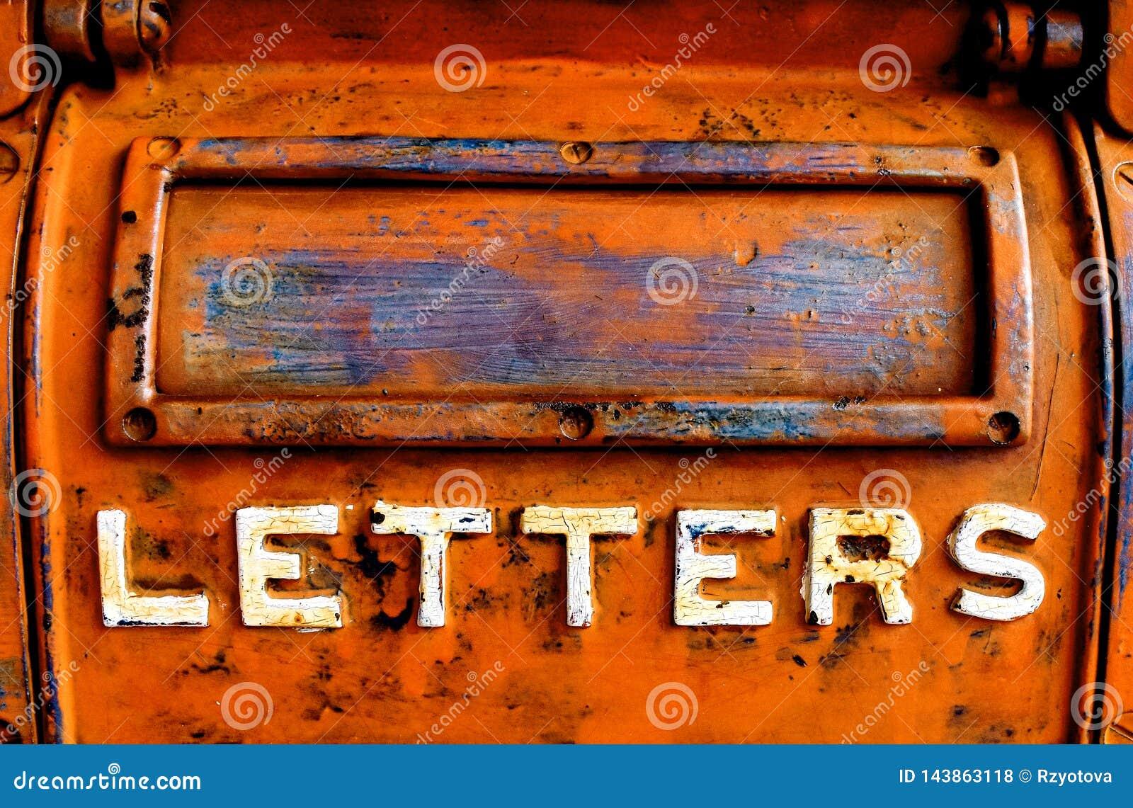 Starego metalu listowy pudełko