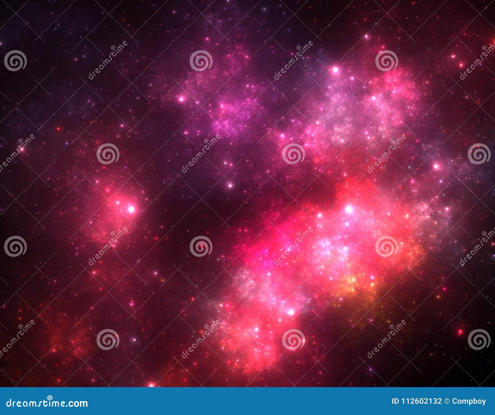 Starfield oscuro del espacio profundo