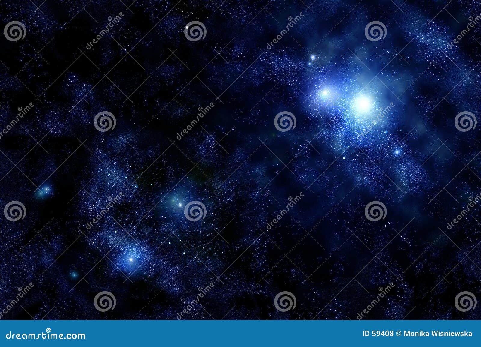 Starfield wszechświata.