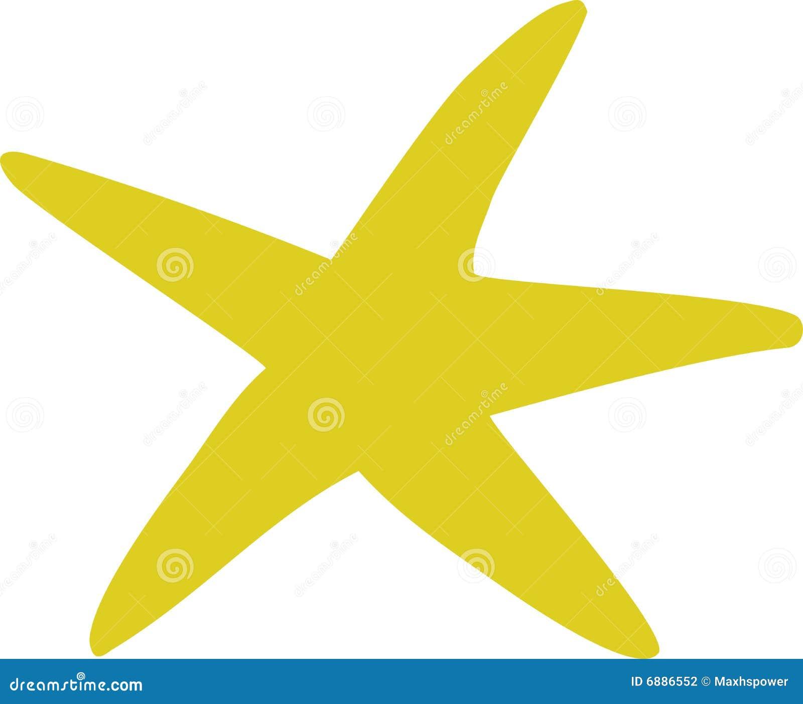 Yellow Starfish Clip Art starfish stock photography - image: 6886552