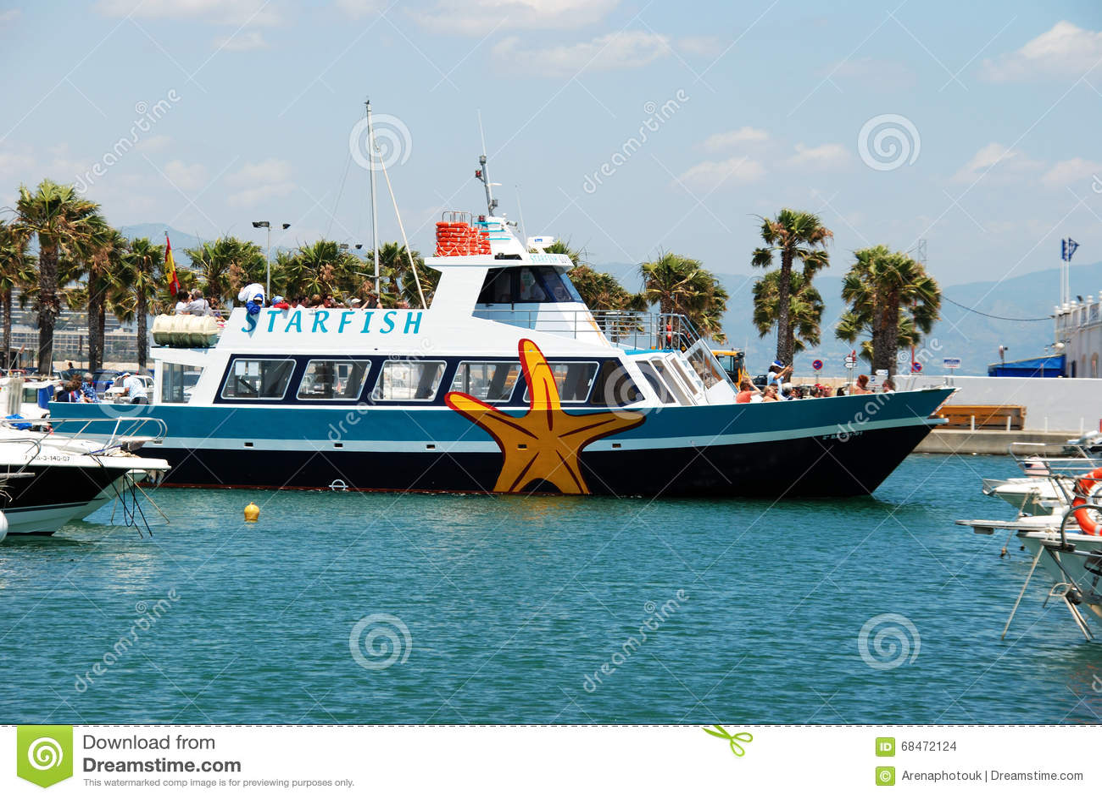 7bc6ea68e8ecf Starfish Boat In Benalmadena Marina. Editorial Stock Image - Image ...
