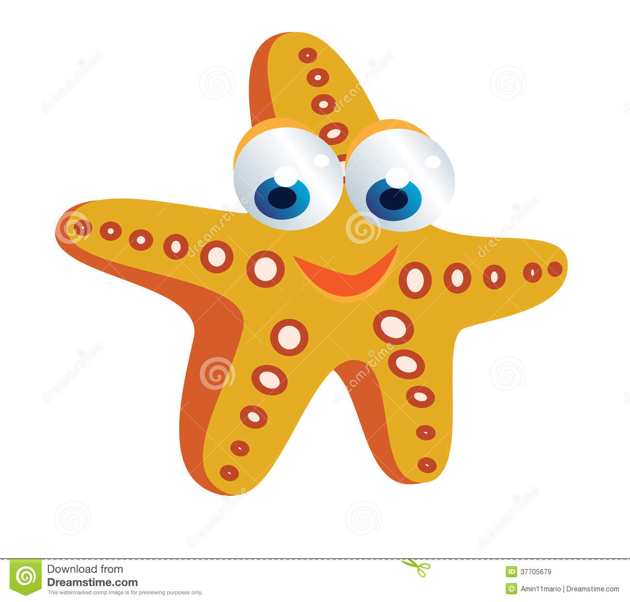 Starfish Cartoon Royalty Free Stock Images - Image: 37705679
