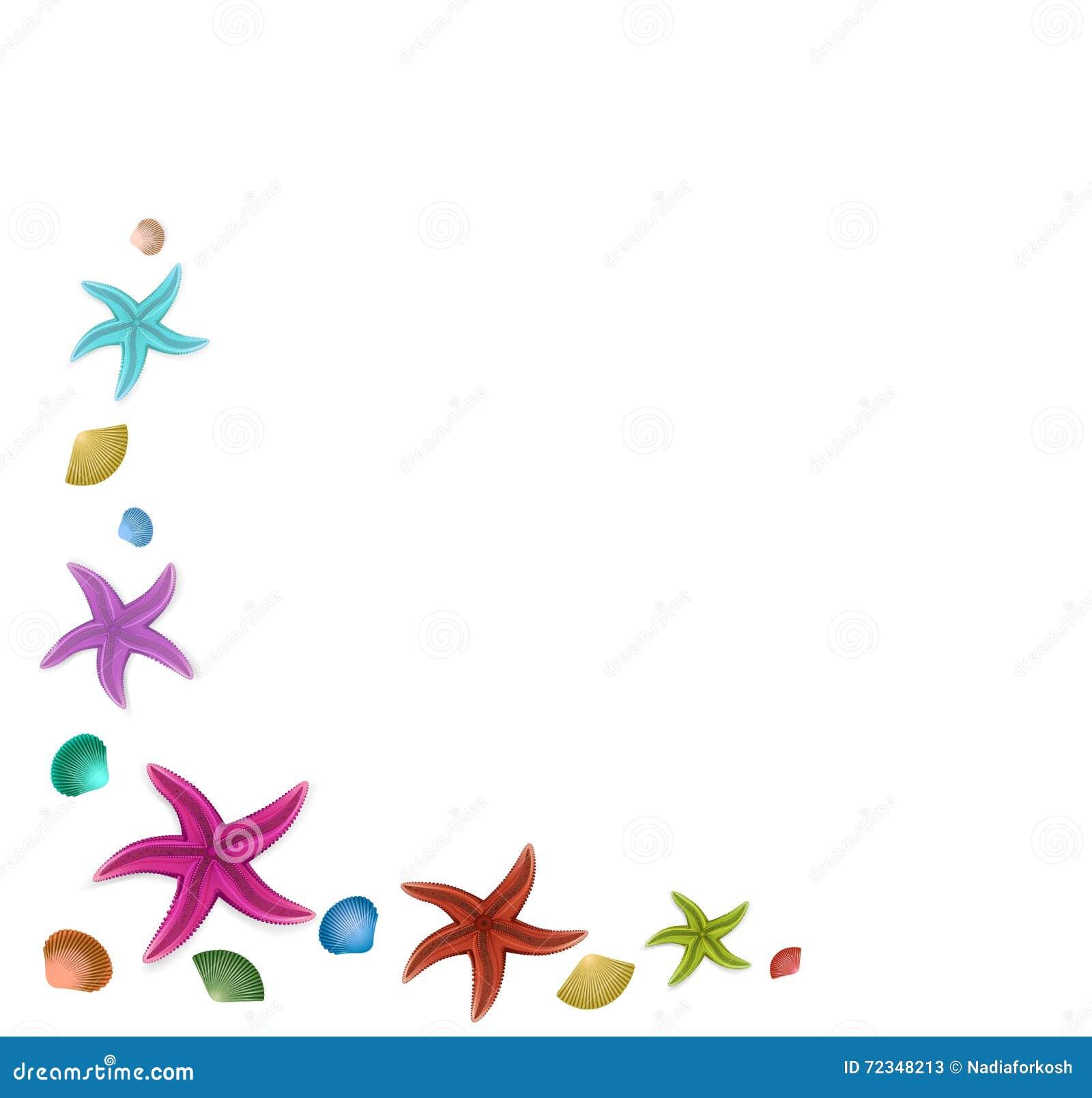 Starfish Frame Illustration 72348213 - Megapixl