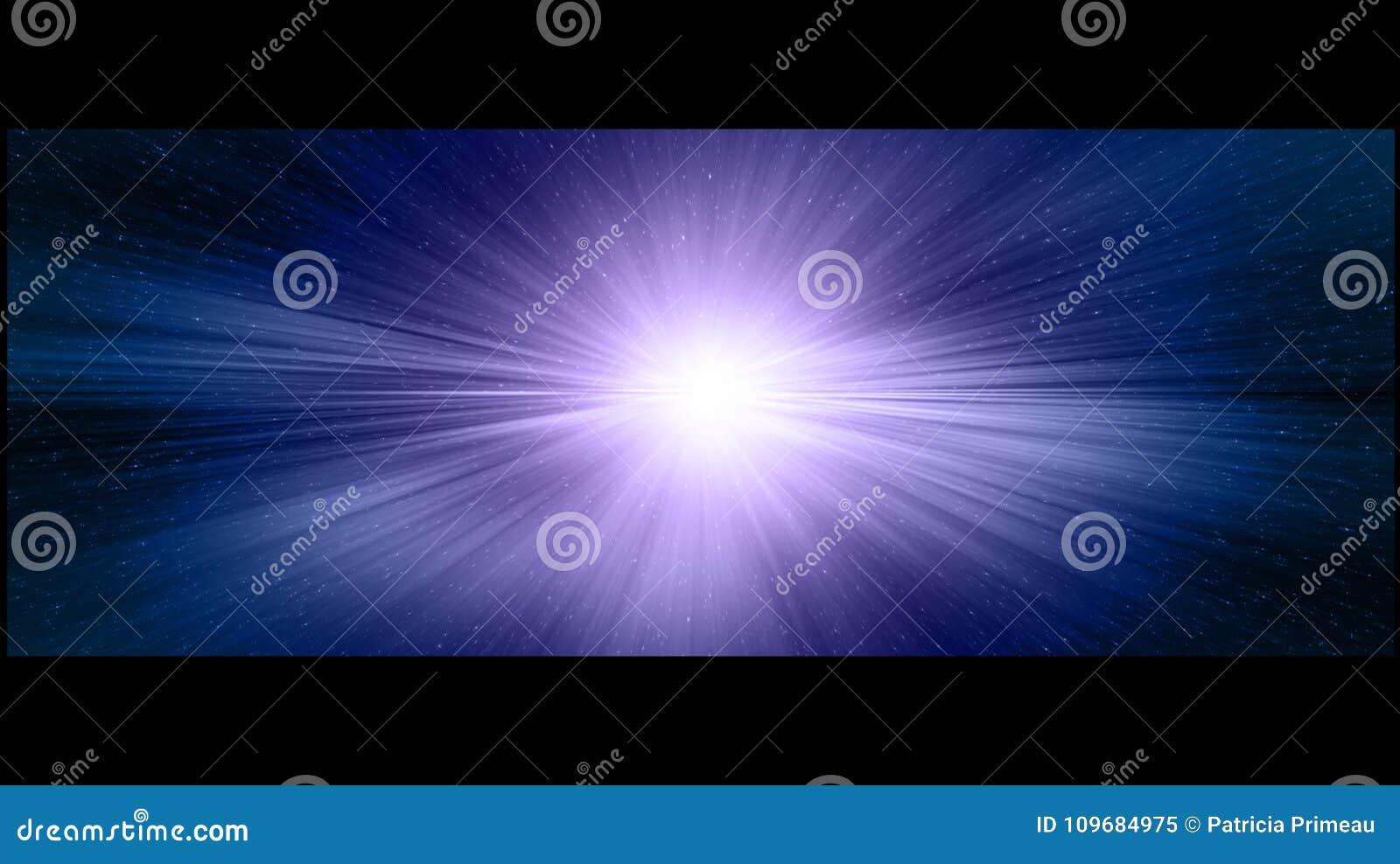 Stargate cinématographique pourpre et bleu dans l espace lointain