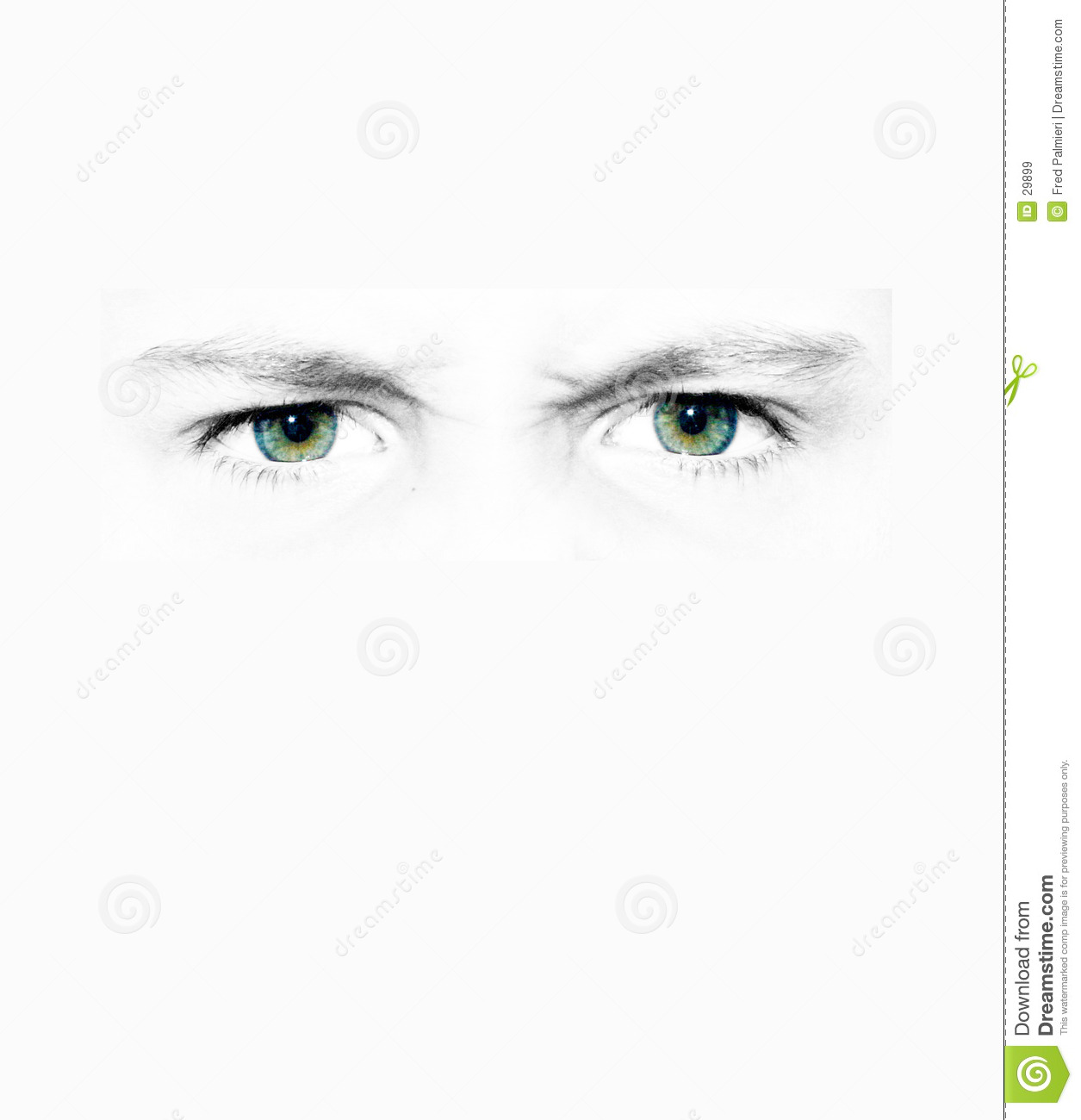 Set of staring eyes on all white background. Only the eyeball itself ...: www.dreamstime.com/royalty-free-stock-images-staring-eyes-image29899