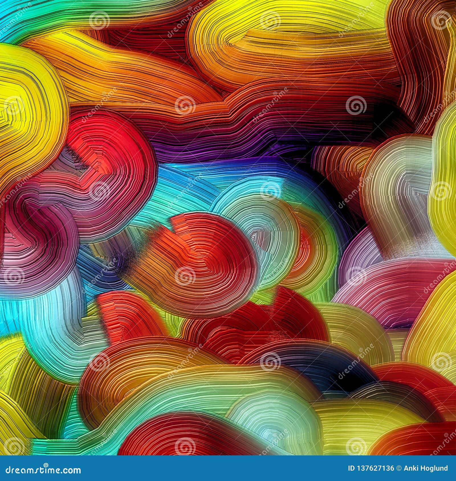 Starke Farbschichten in digital erzeugter multi Farbe