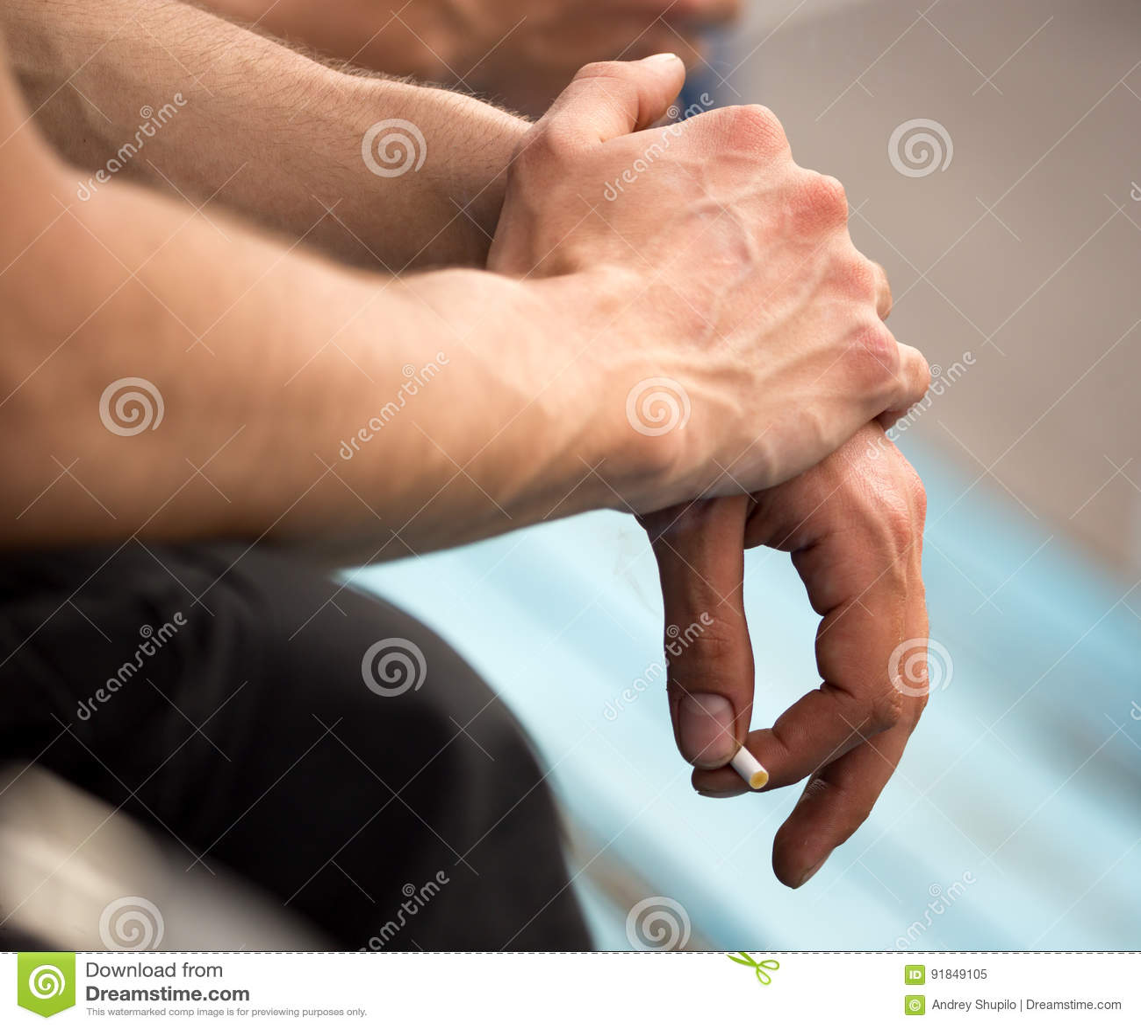 Hand adern auf der Geplatzte Ader