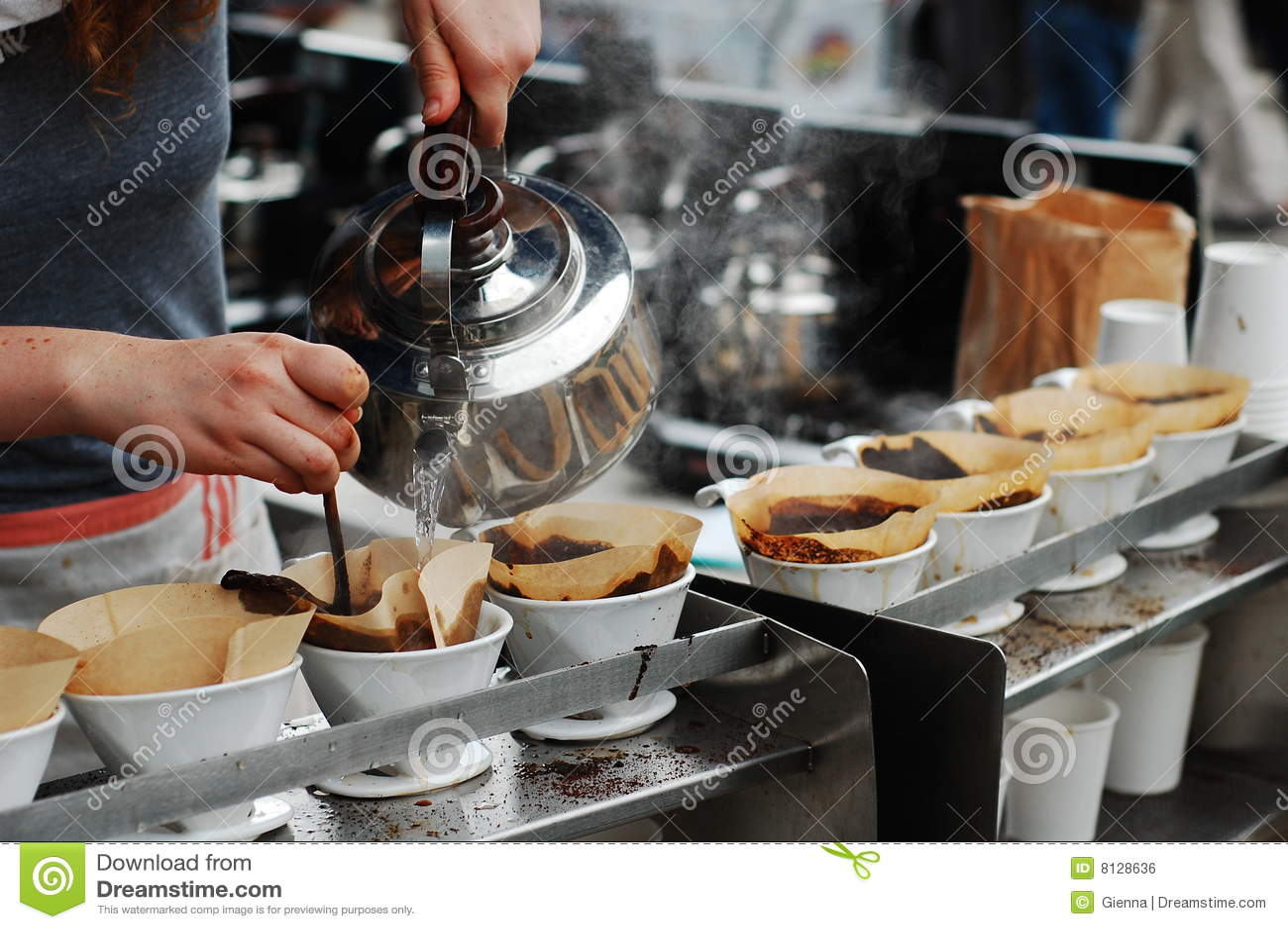 Starker gebrauter Kaffee